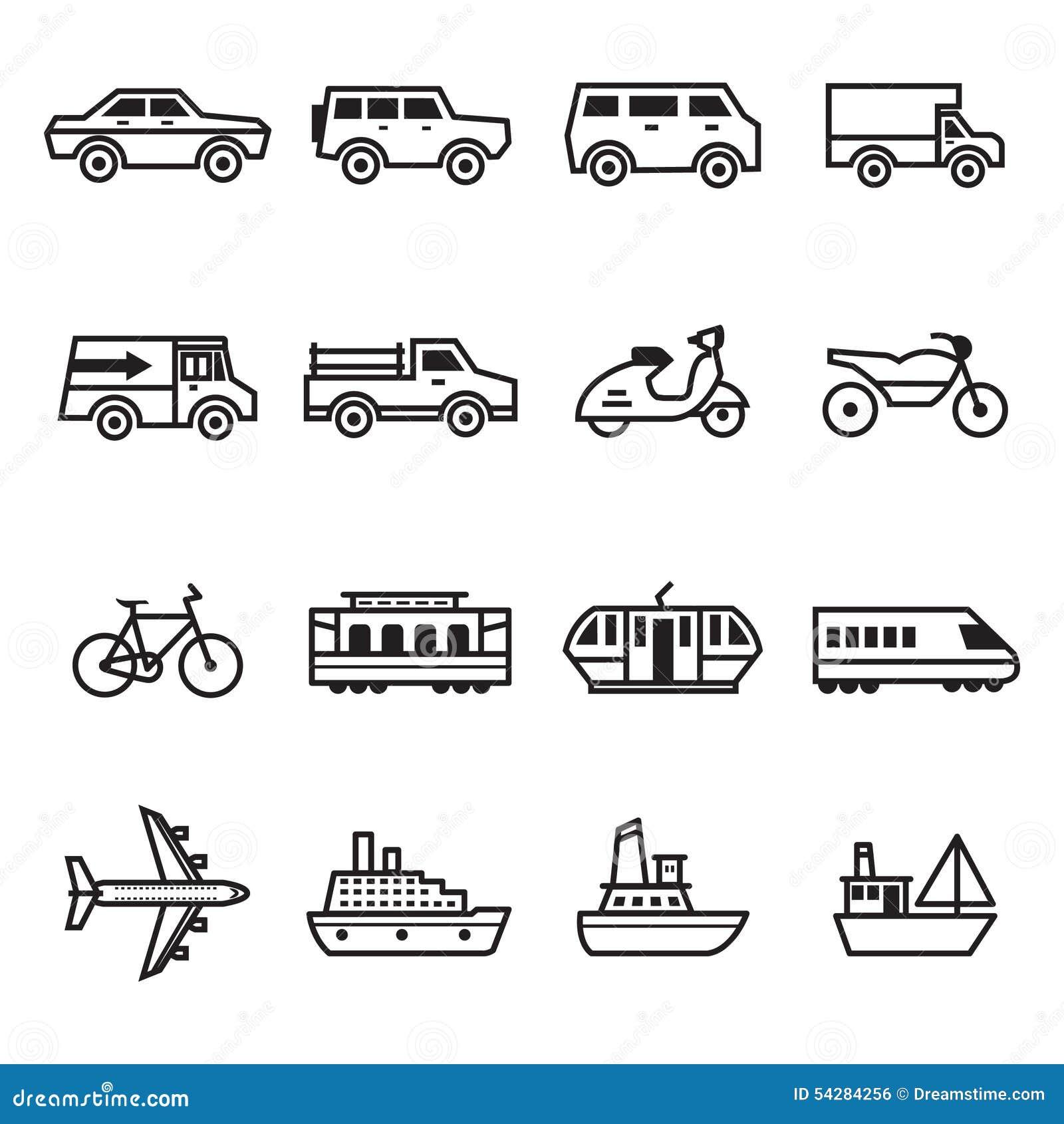 Transport ikony