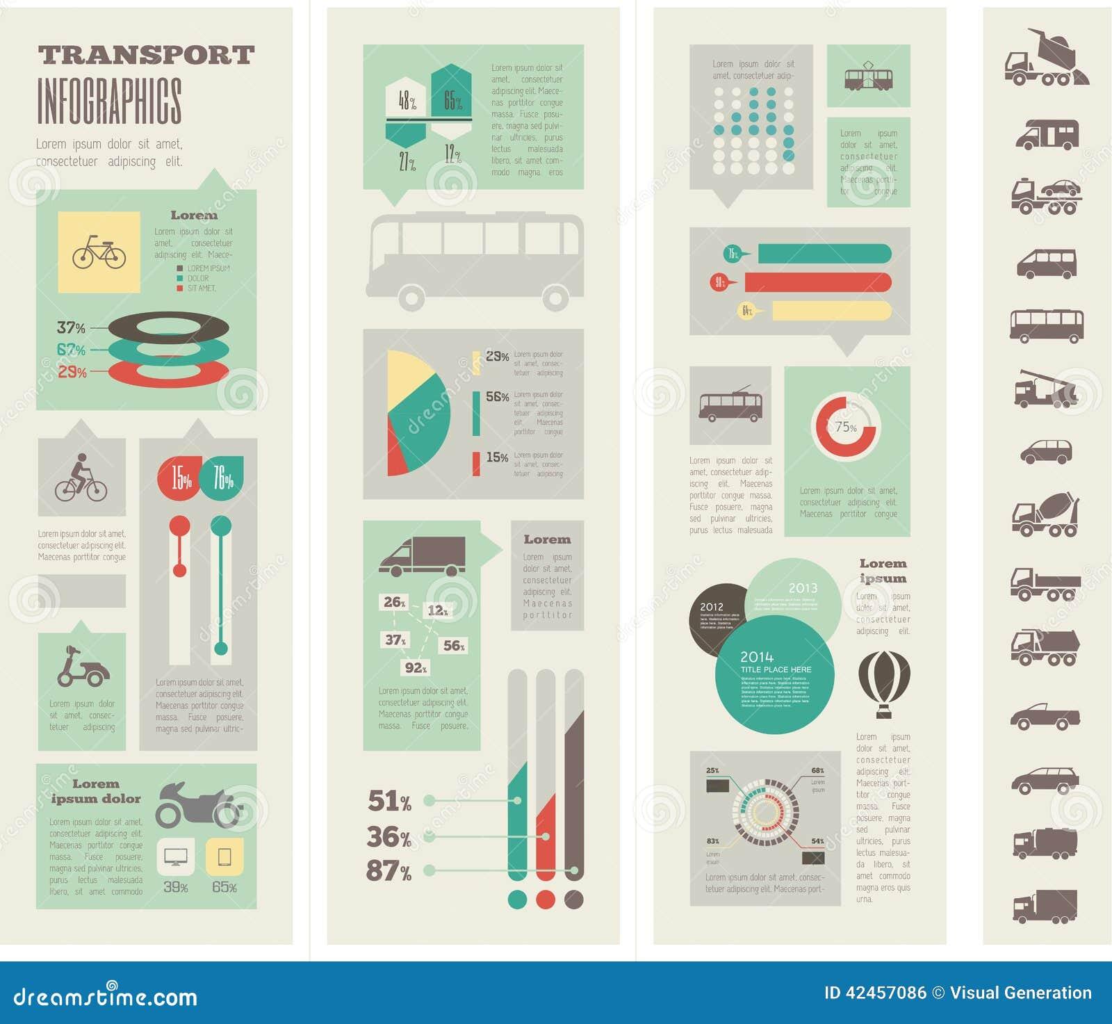 Transport Infographic-Schablone