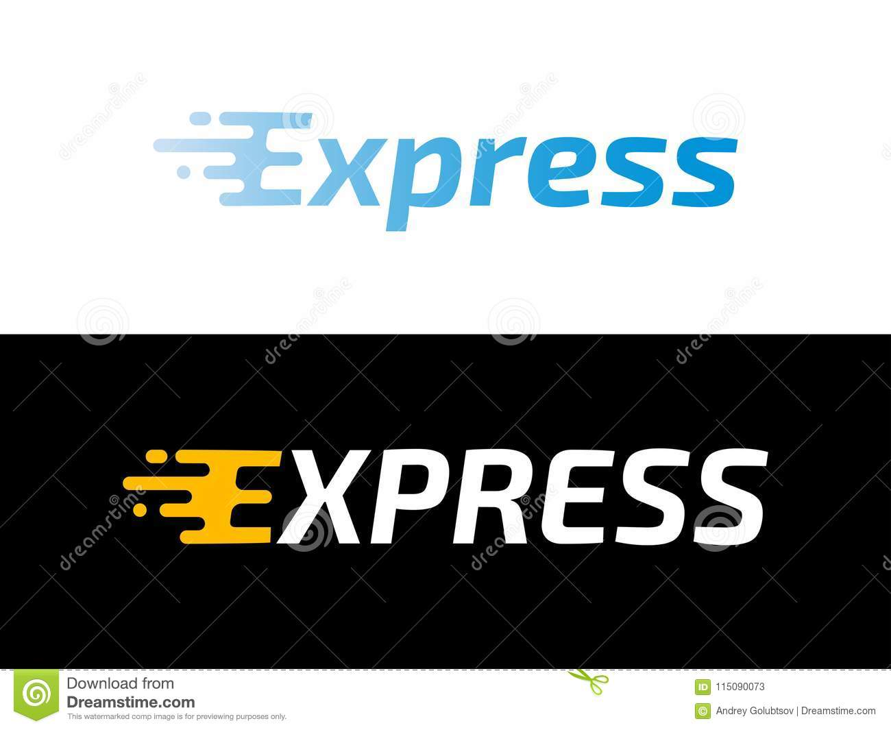 Transport logistic or Express delivery post mail logo for courier logistics shipping. Vector Express icon for transportation