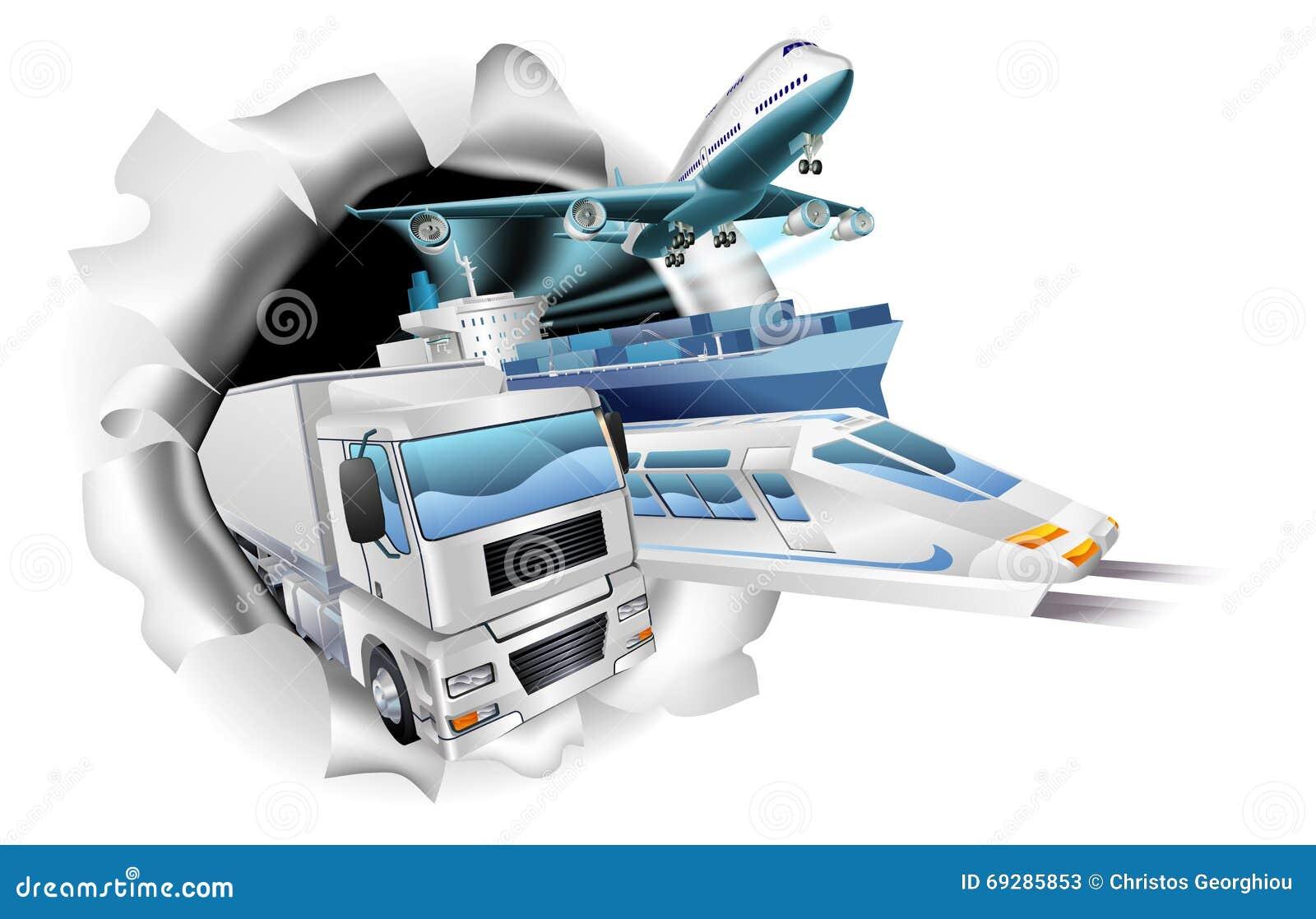 Transport Logistics Cargo Concept Stock Vector
