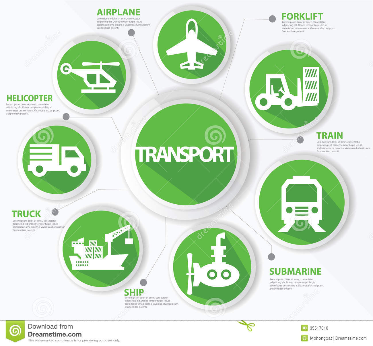 Transport And Logistics Concept Stock Vector