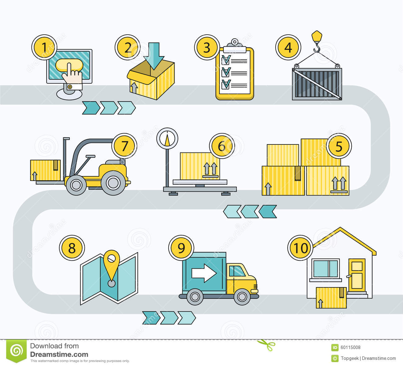 Transport Logistics Parcel Delivery Stock Vector Image