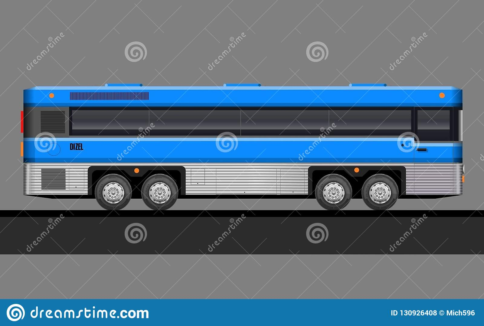 Transport, public, city, service, tourism, car, illustration, intercity, side view, realistic, foreground, truck, vintage, classic