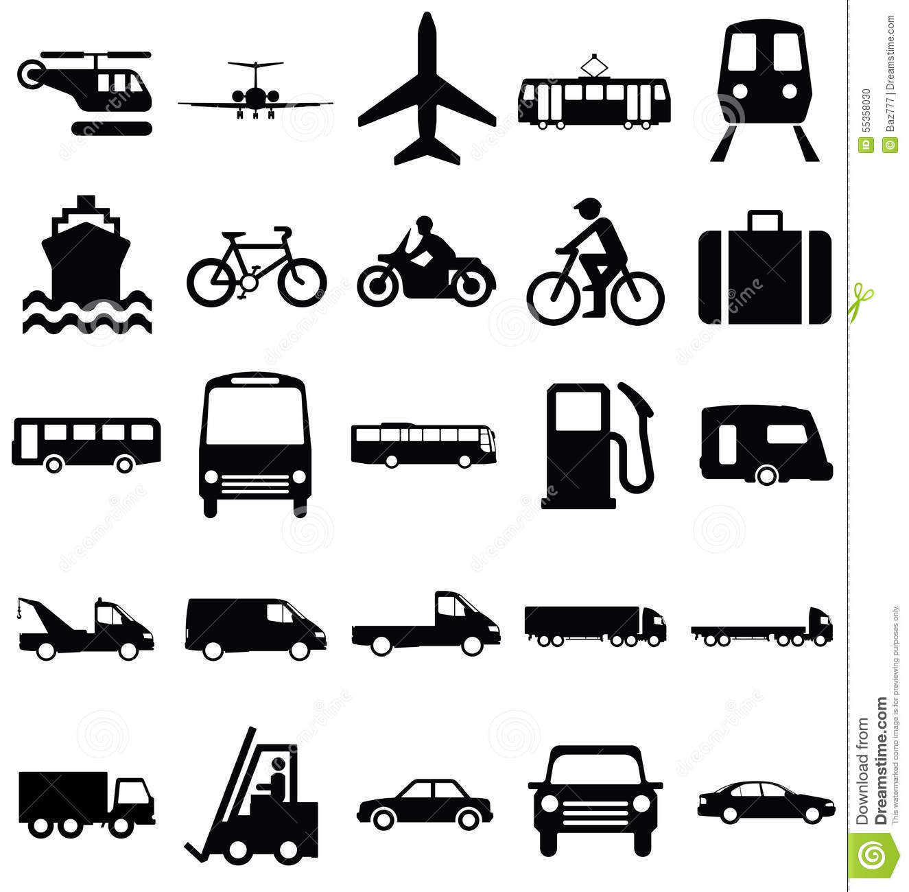 Transport Related Graphics Stock Vector - Image: 55358030