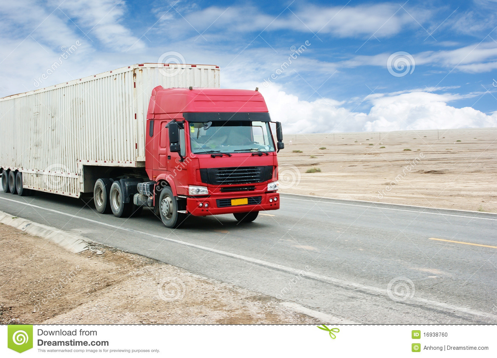 Transport Truck Stock Photo. Image Of Remote, Gobi, Cargo