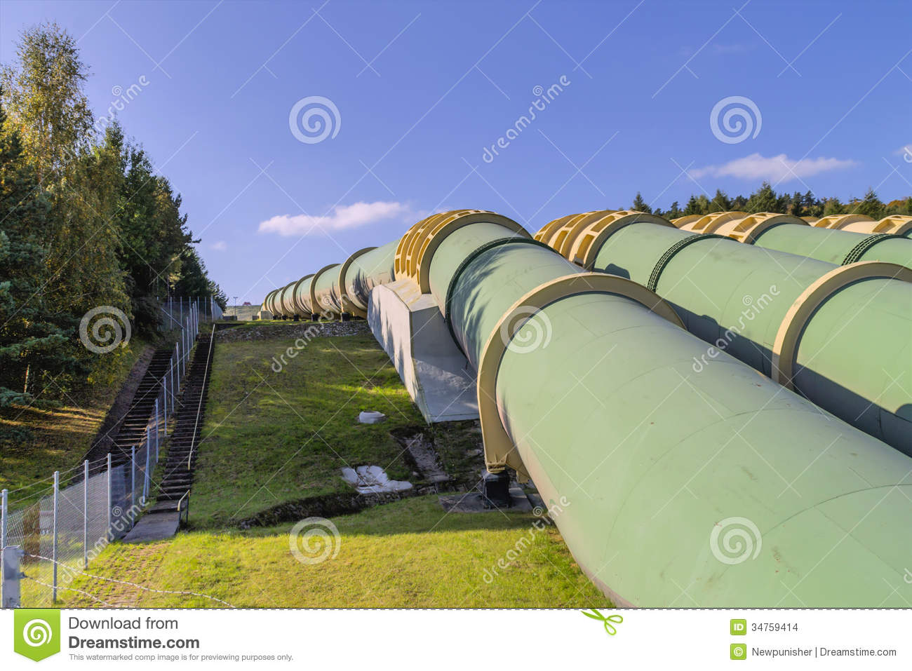 Transport Water Through Pipes Stock Photo Image Of