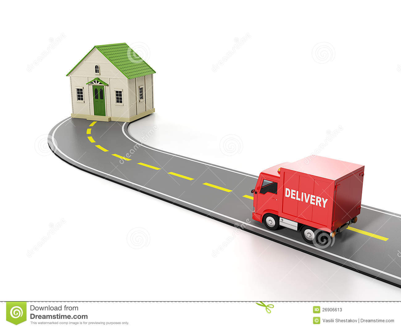 Transportation Cargo Free Home Delivery Stock Photos