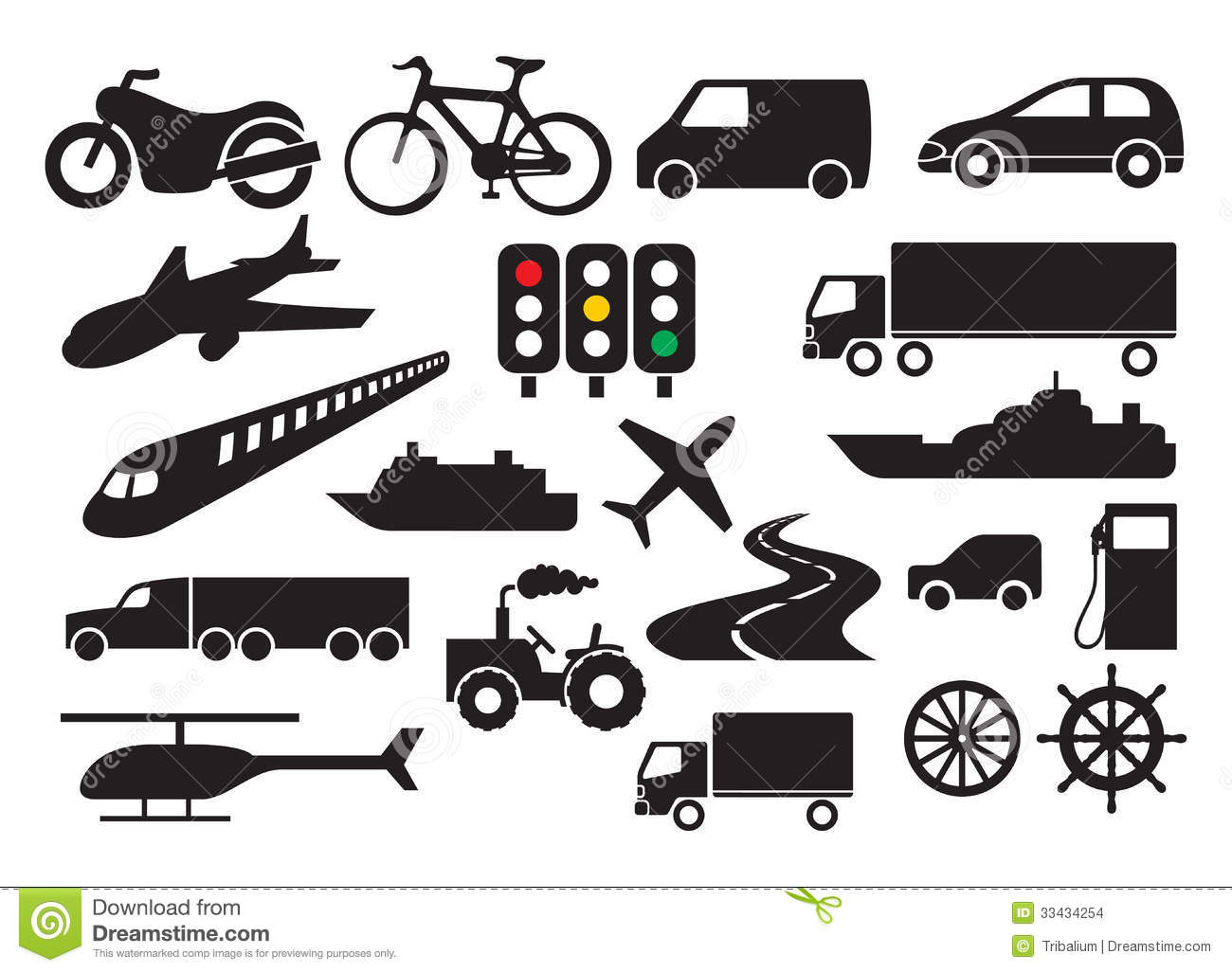 Transportation Icon Set Stock Images - Image: 33434254