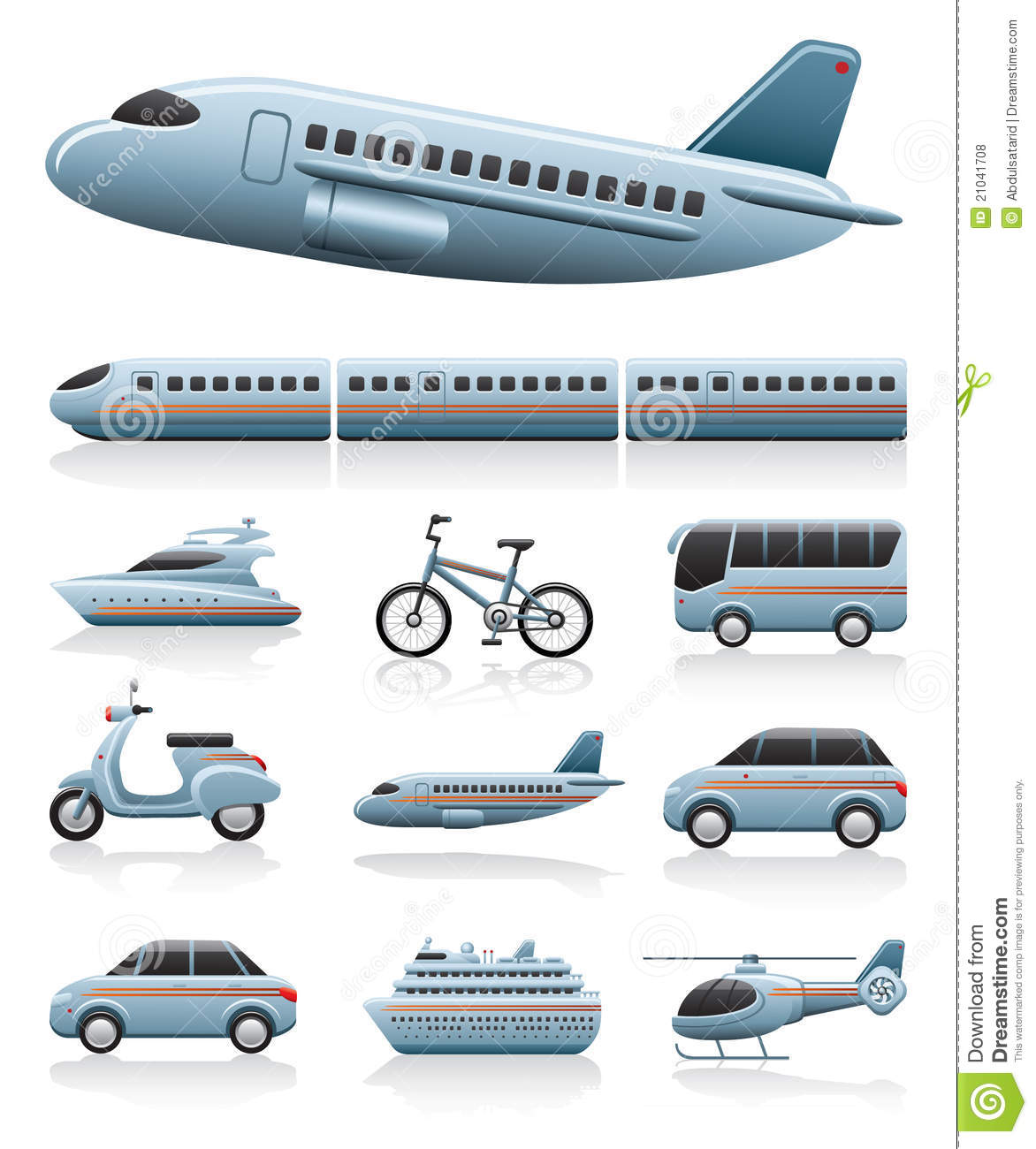 Transportation: Transportation Icons Stock Vector. Image Of Travel
