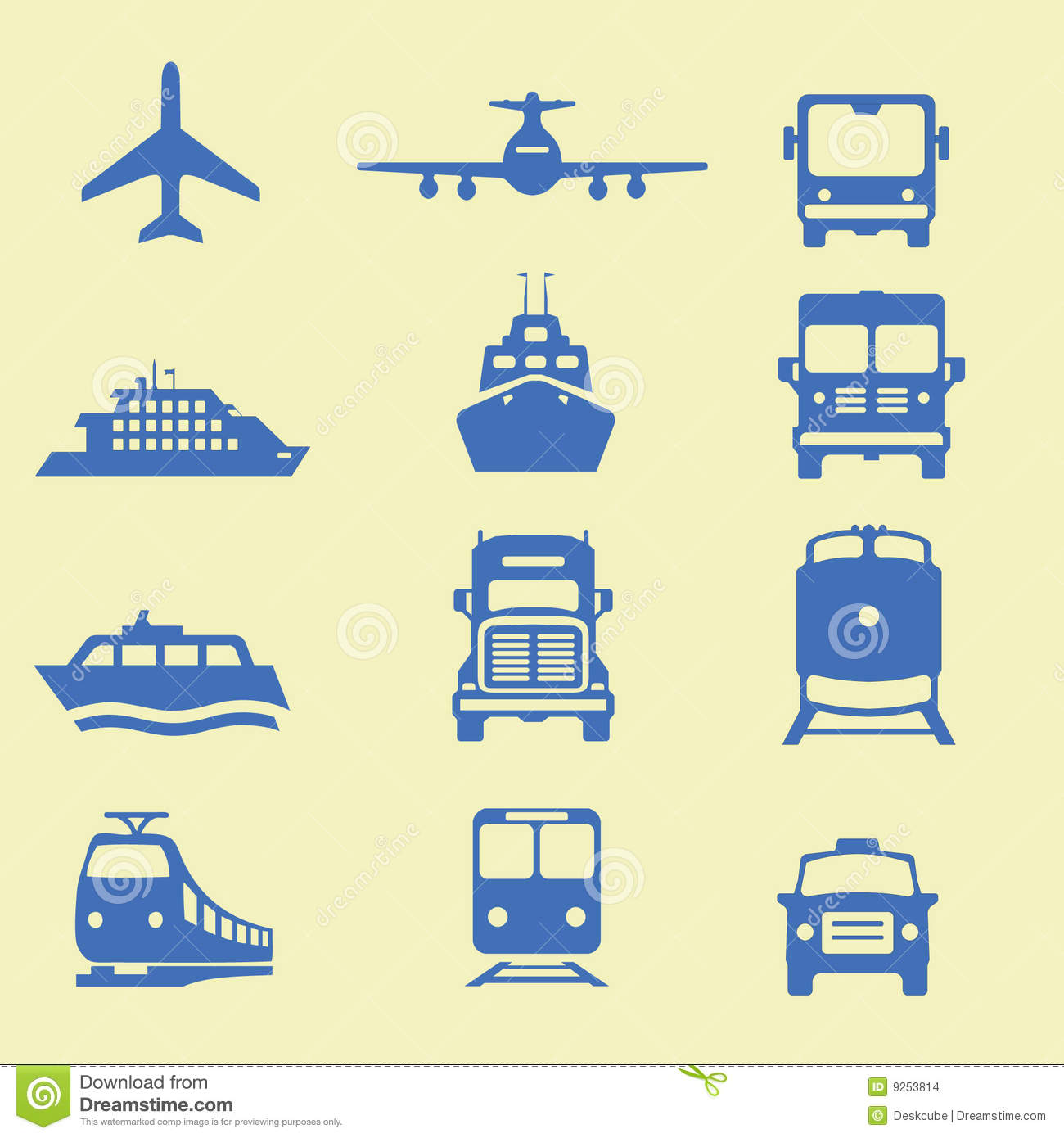 Download Transportation icons stock vector. Illustration of locomotive - 9253814