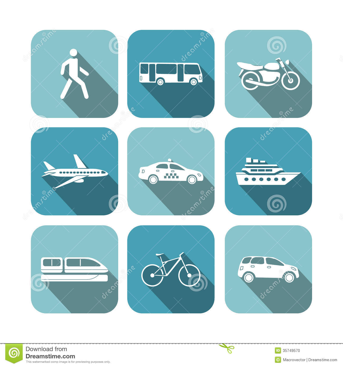 Transportation Icons Set Stock Photo - Image: 35749570