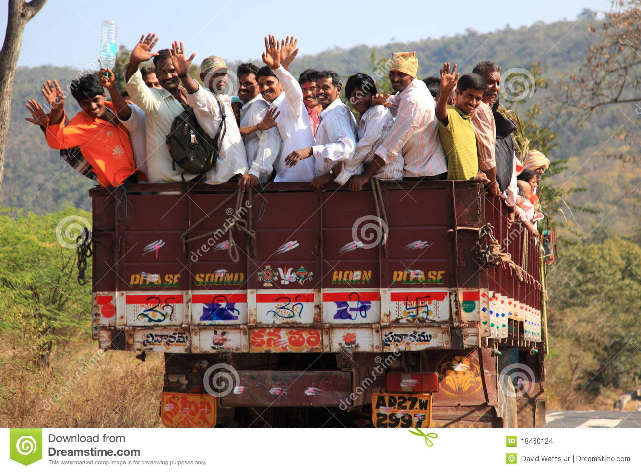 Transportation in India editorial stock image  Image of lory