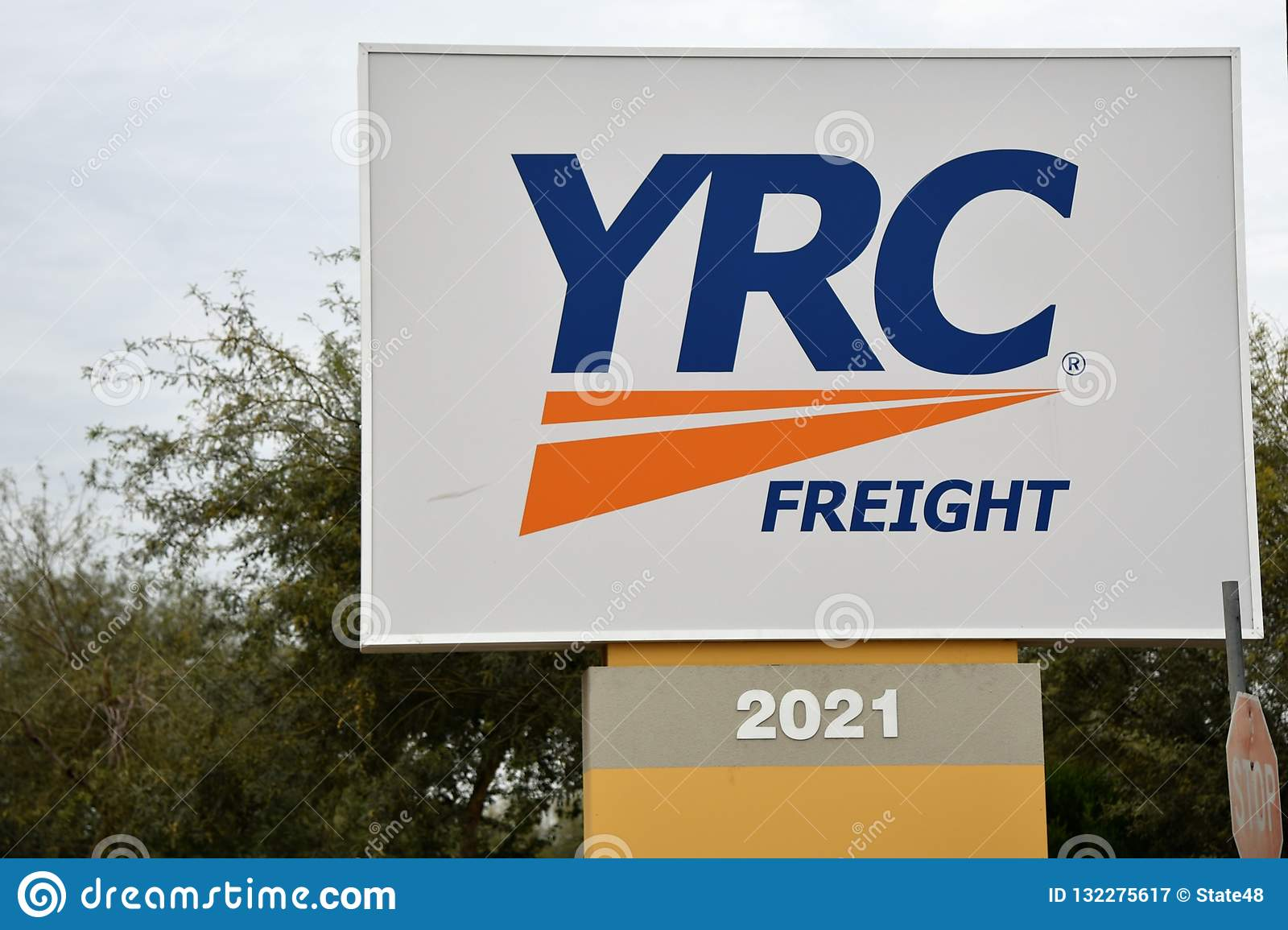 YRC Freight Sign In Phoenix Arizona Editorial Photography - Image of