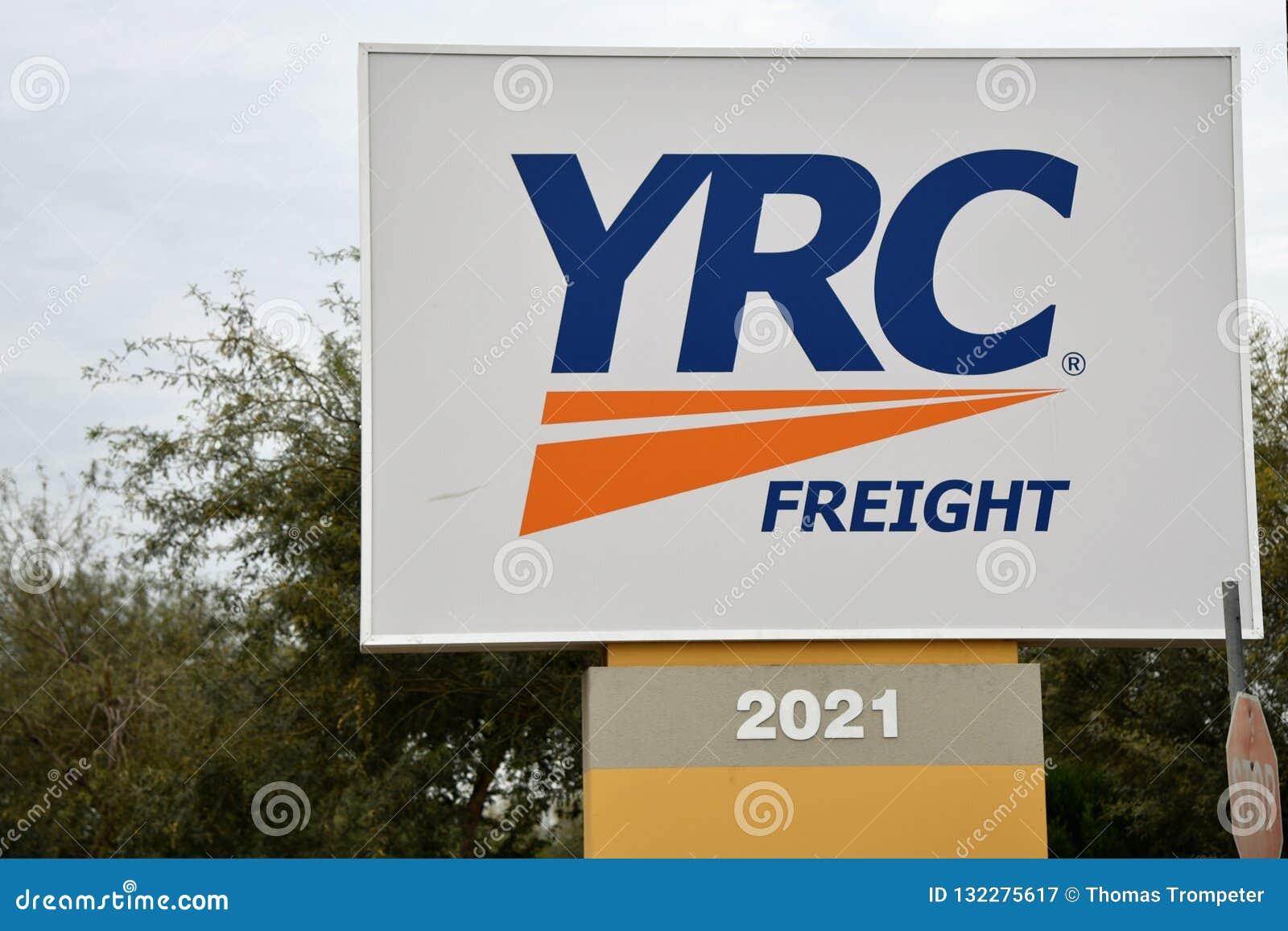 YRC Freight Sign In Phoenix Arizona Editorial Photography
