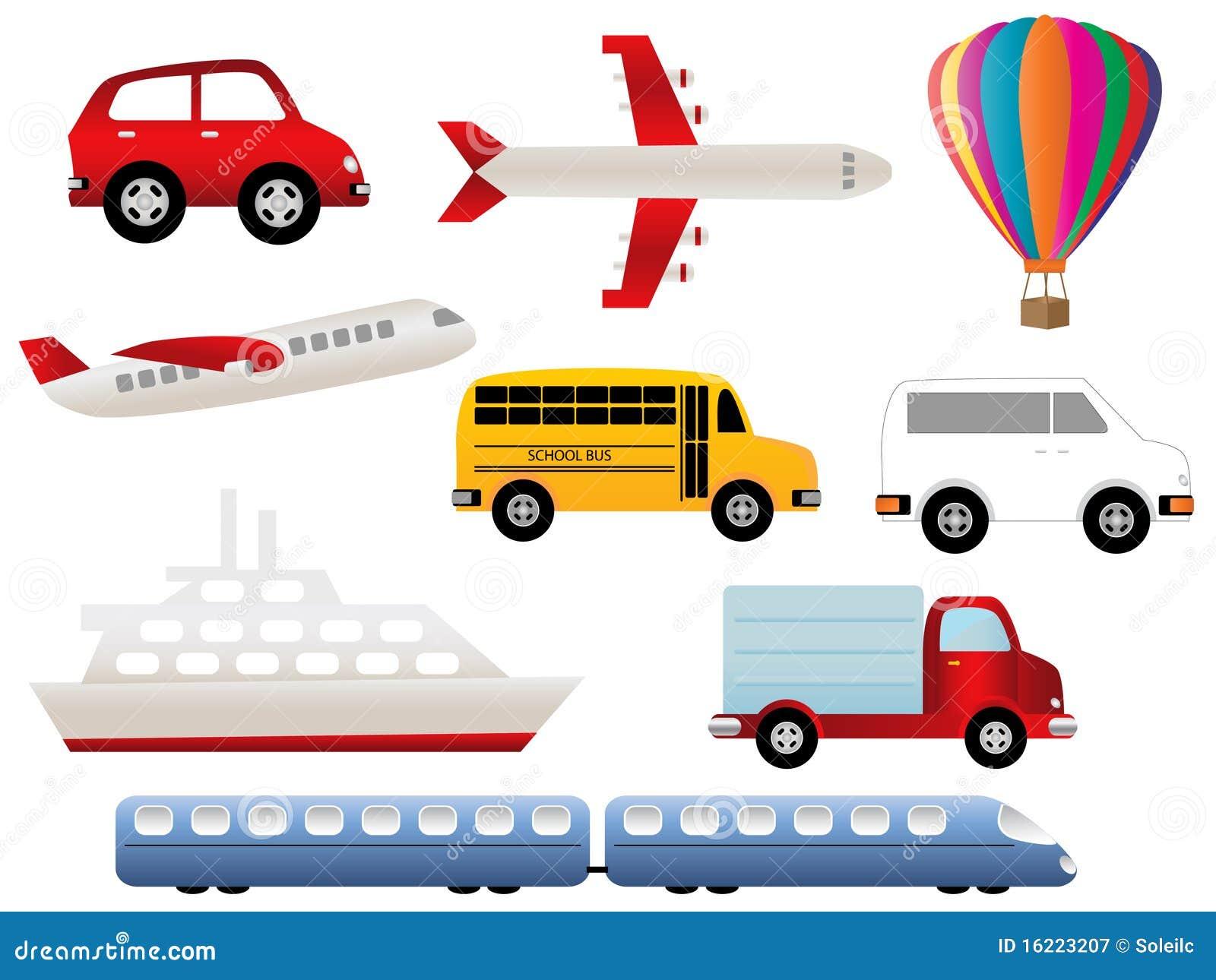 Transportation Symbols Royalty Free Stock Photography