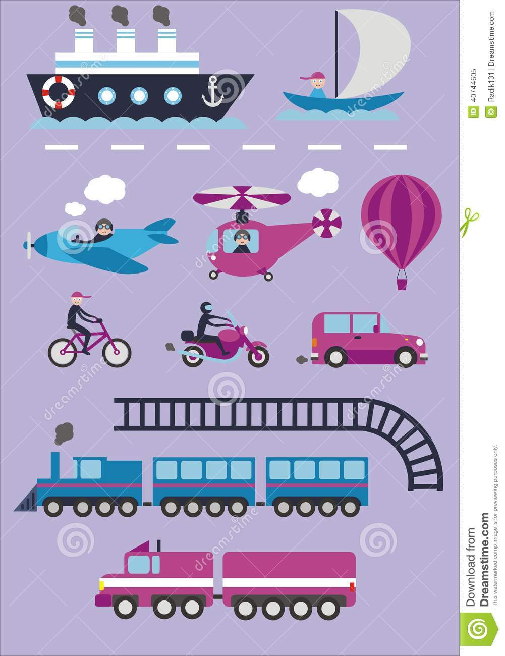 transportation stock vector   image 40744605