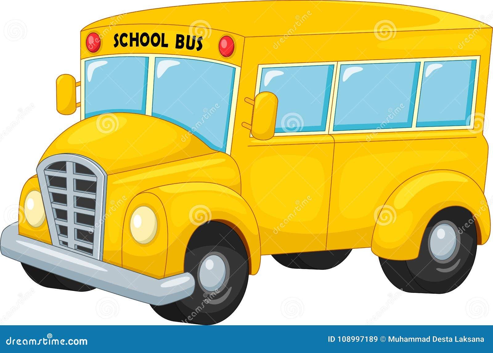 Transporte de ônibus escolar ao curso da educação