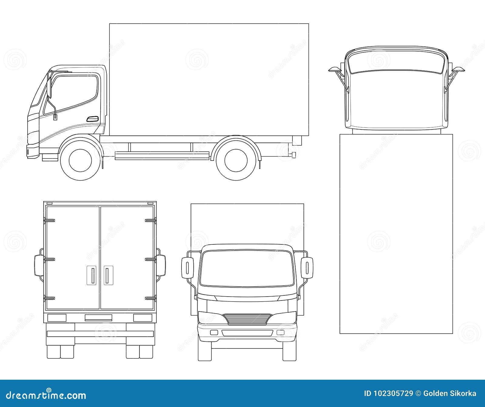Transporte Del Cami U00f3n Del Cargo En Esquema Entrega R U00e1pida