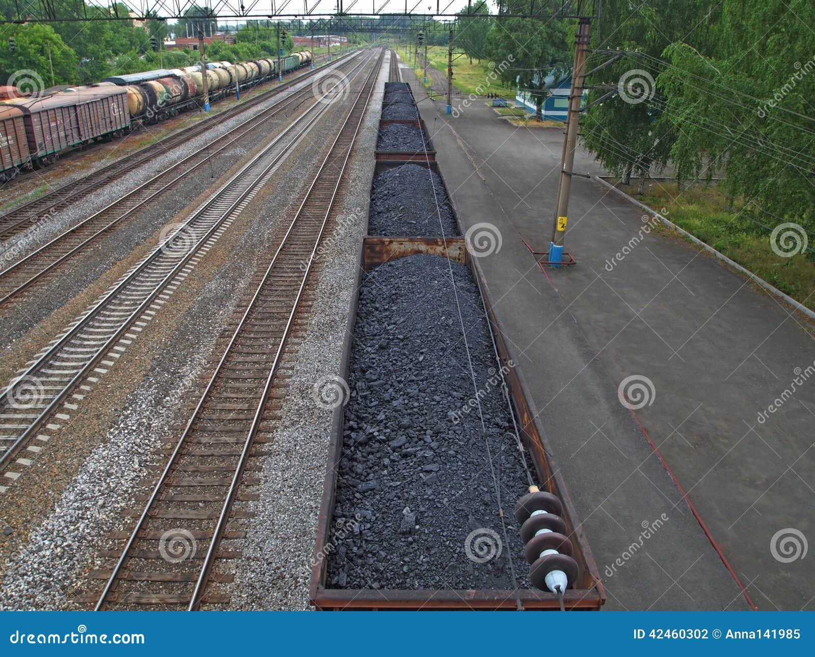 Transporte del carbón y del combustible por el ferrocarril