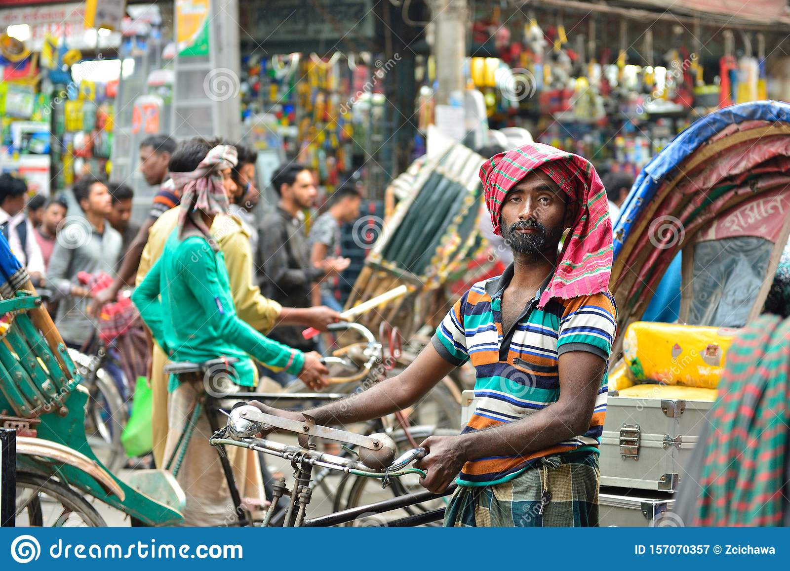 Transporte en Rickshaw, Daca, Bangladesh