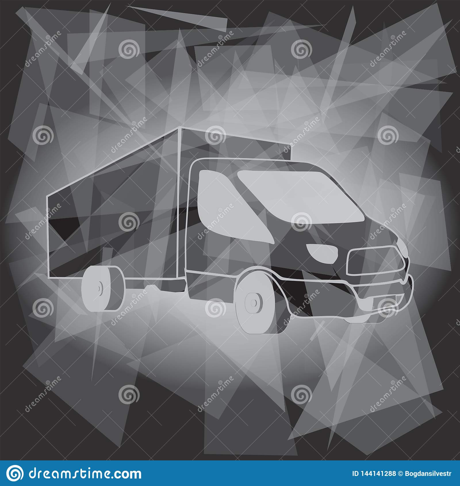 Transporte Logo Template do caminh?o