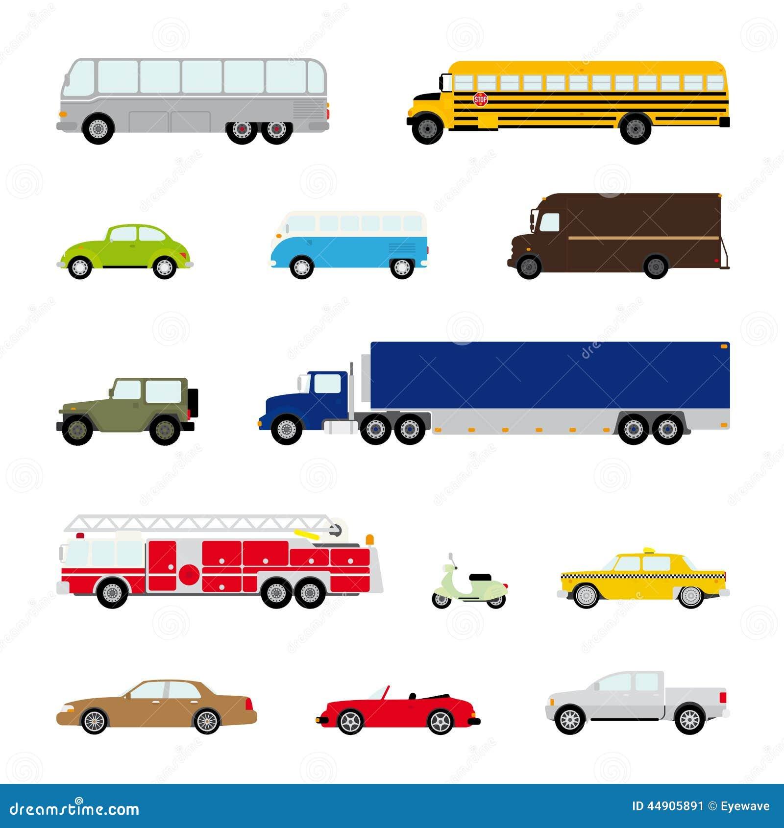Transporte y sistema automotriz del vector del símbolo