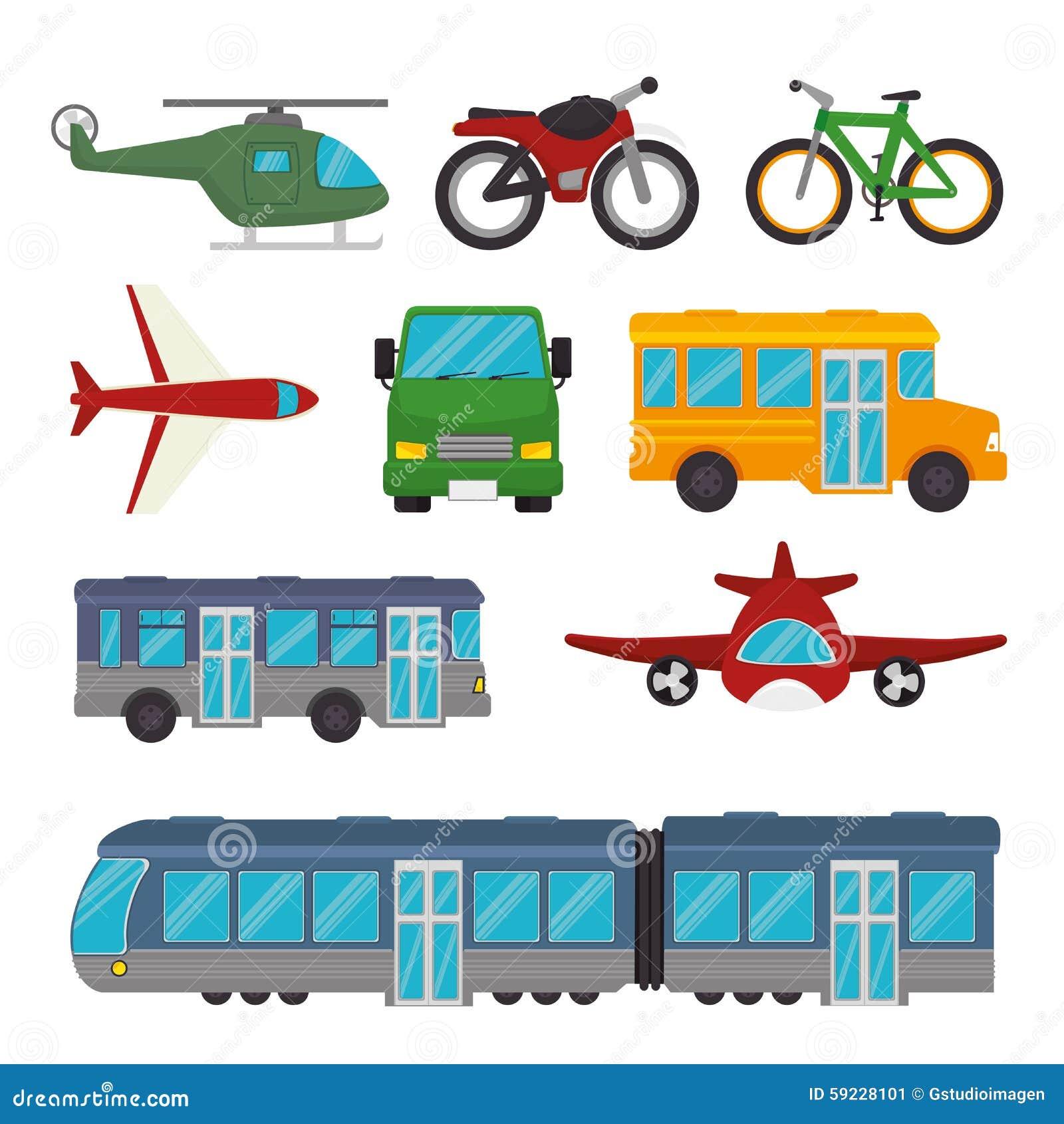 Download Transporte y vehículos ilustración del vector. Ilustración de viaje - 59228101