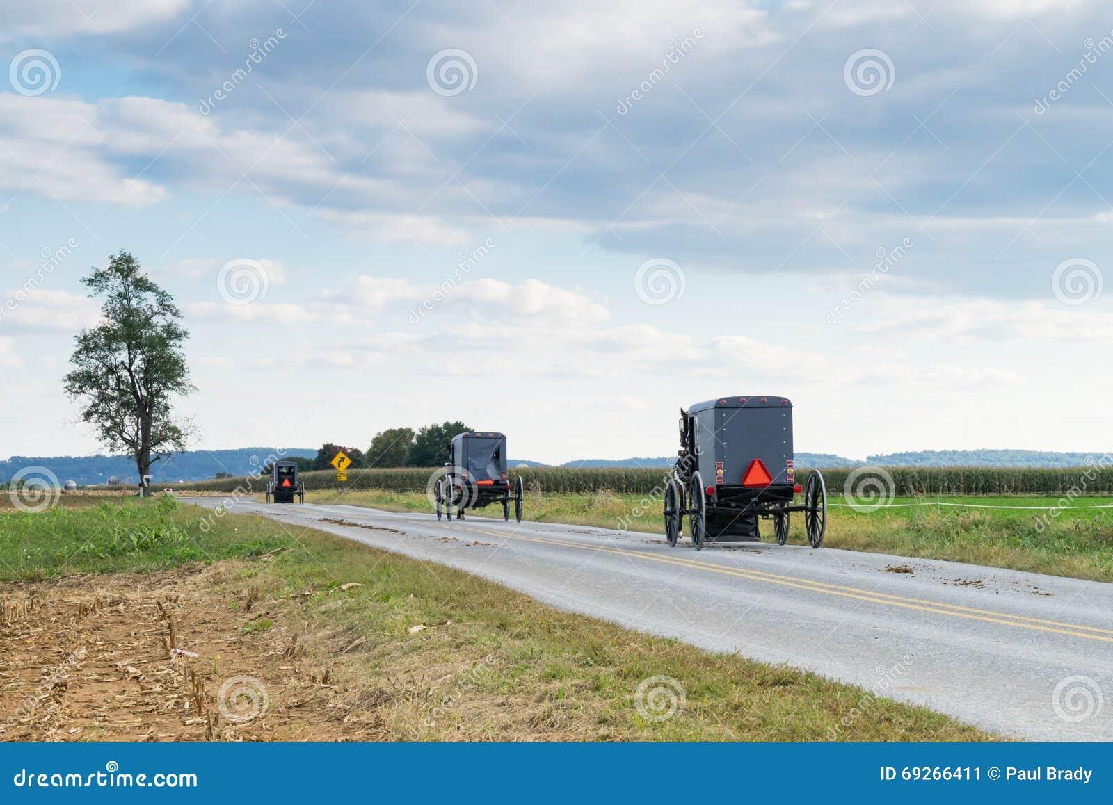 Transportes de Amish no Condado de Lancaster