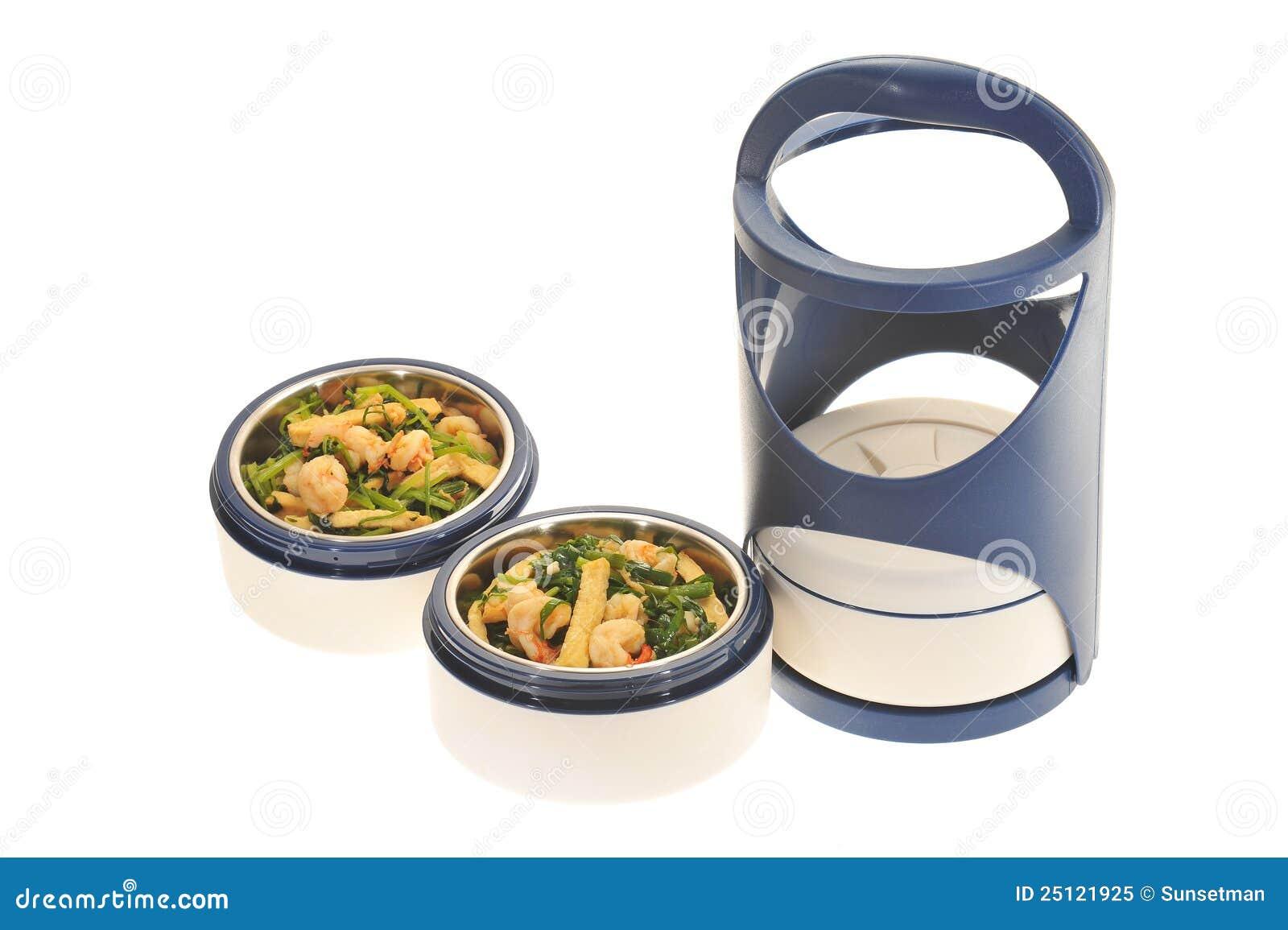 Transporteur en plastique de nourriture, Tiffin