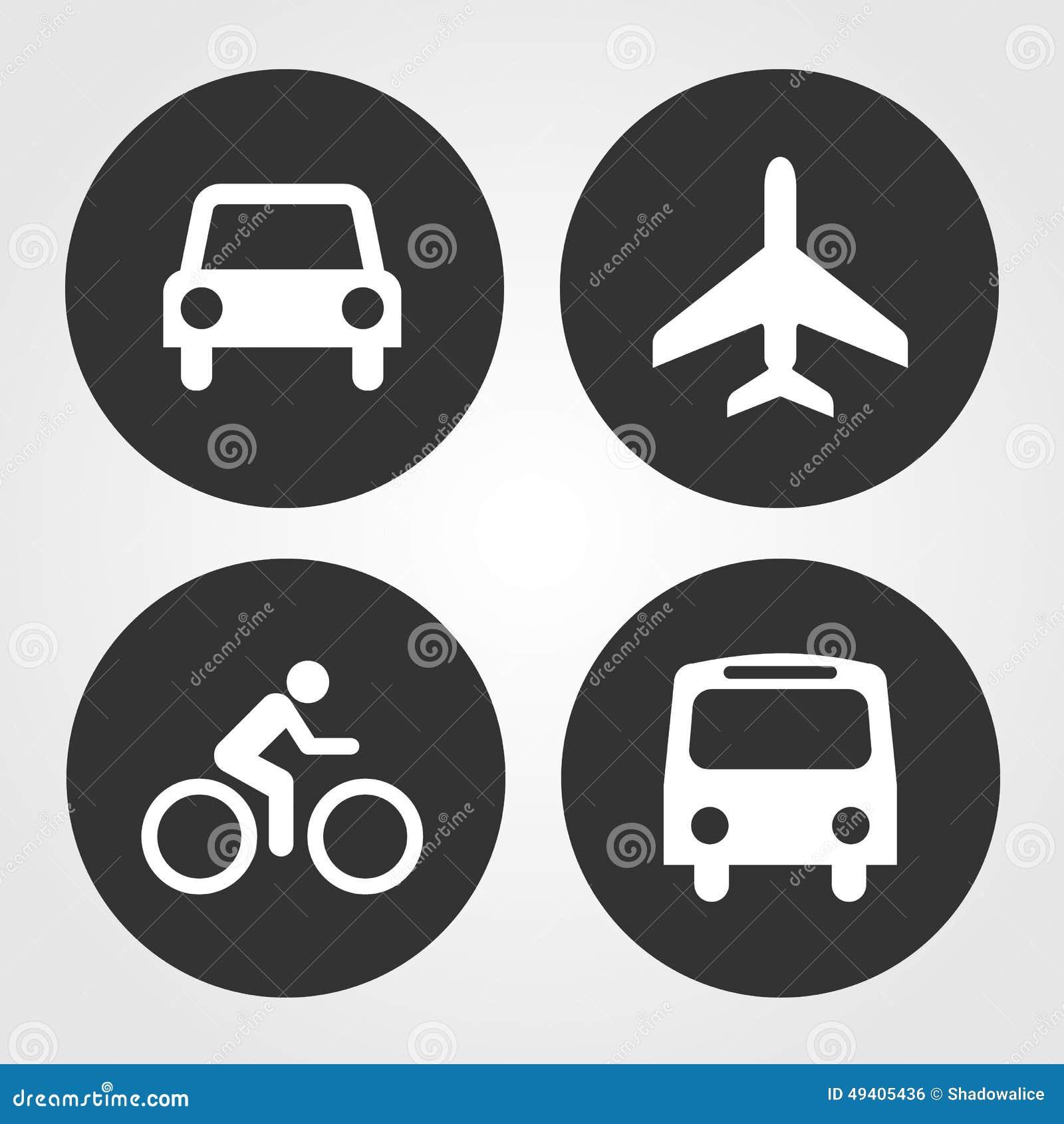 Download Transportikonen Stellten Groß Für Jeden Möglichen Gebrauch Ein Vektor Eps10 Vektor Abbildung - Illustration von jeep, schwarzes: 49405436
