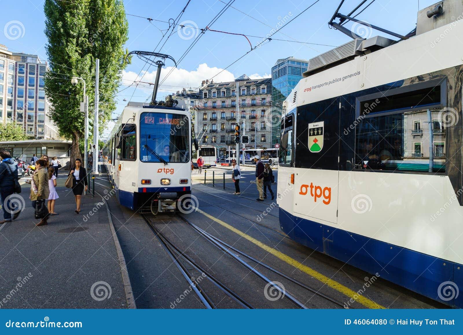 Tranvía en Ginebra, Suiza