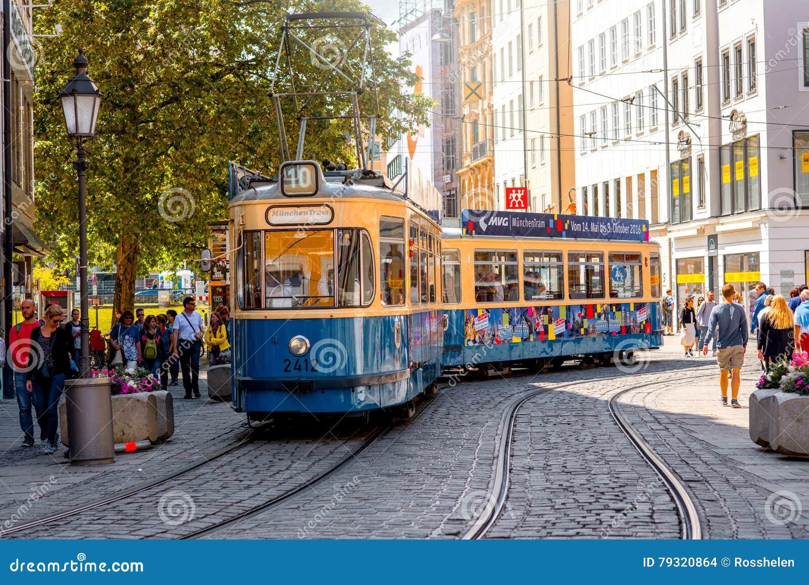 Tranvía vieja en Munich
