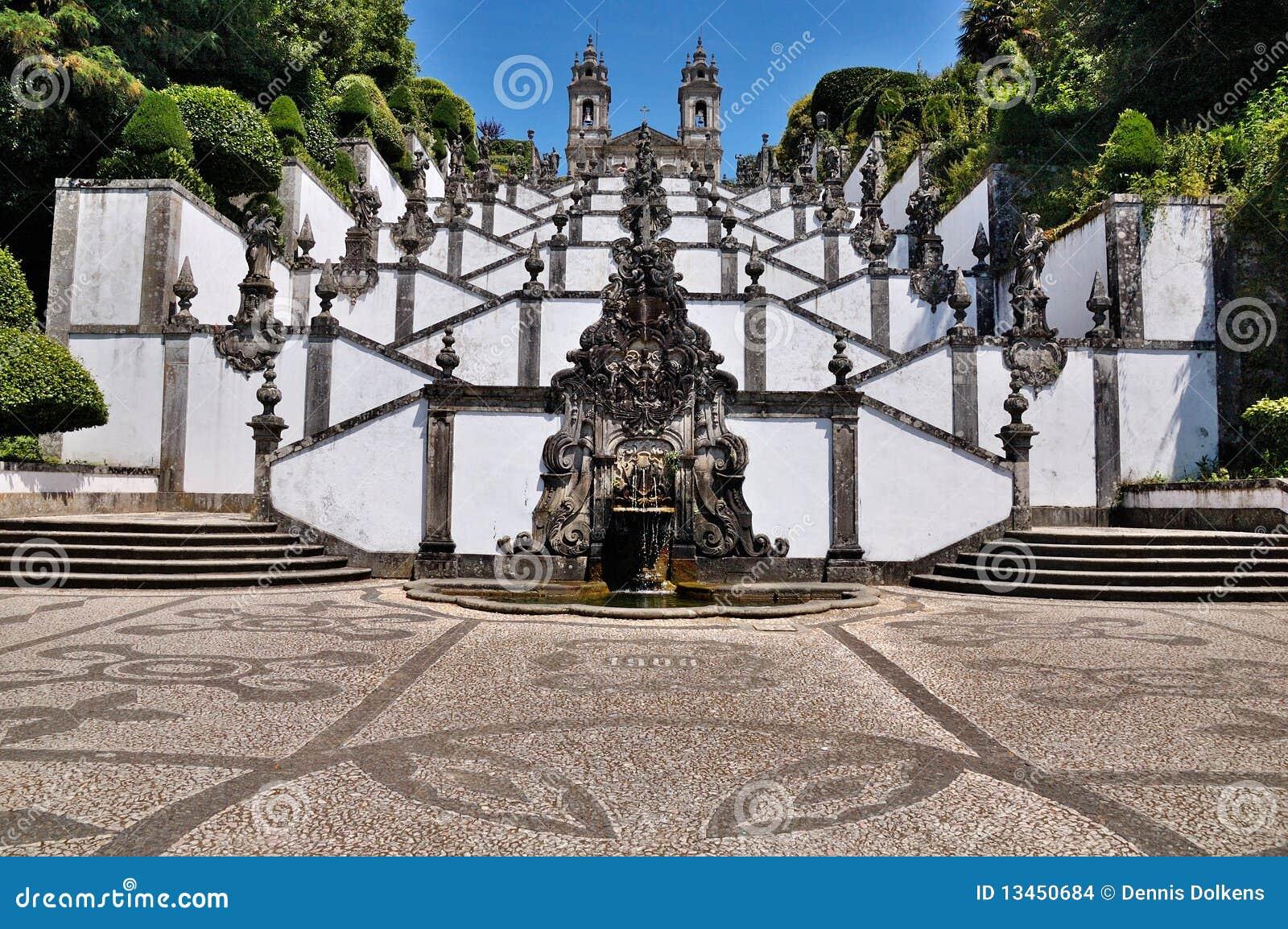 Trap van Bom Jesus do Monte, Braga, Portugal