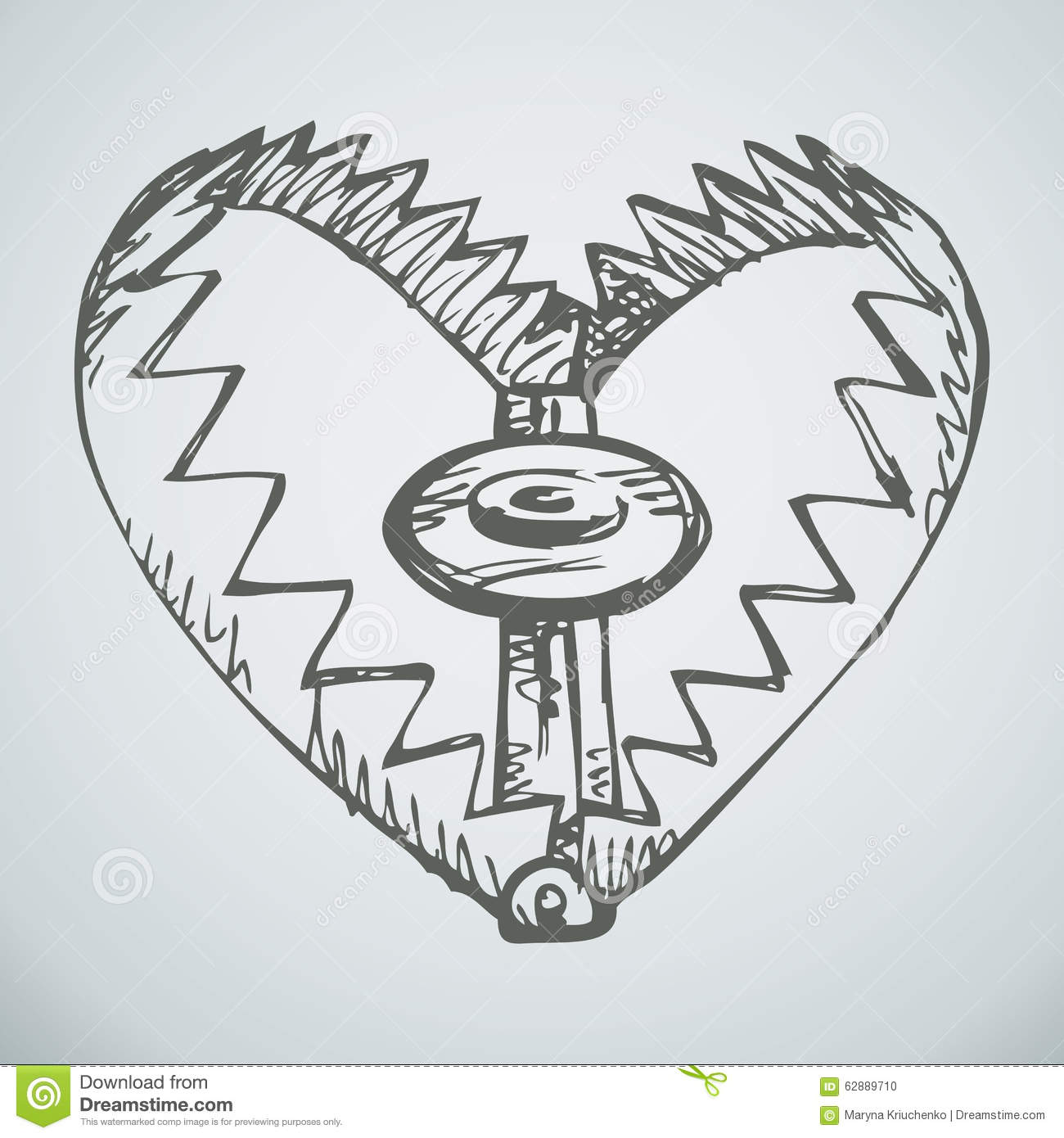 trap  vector drawing stock vector  image of animal  cogs