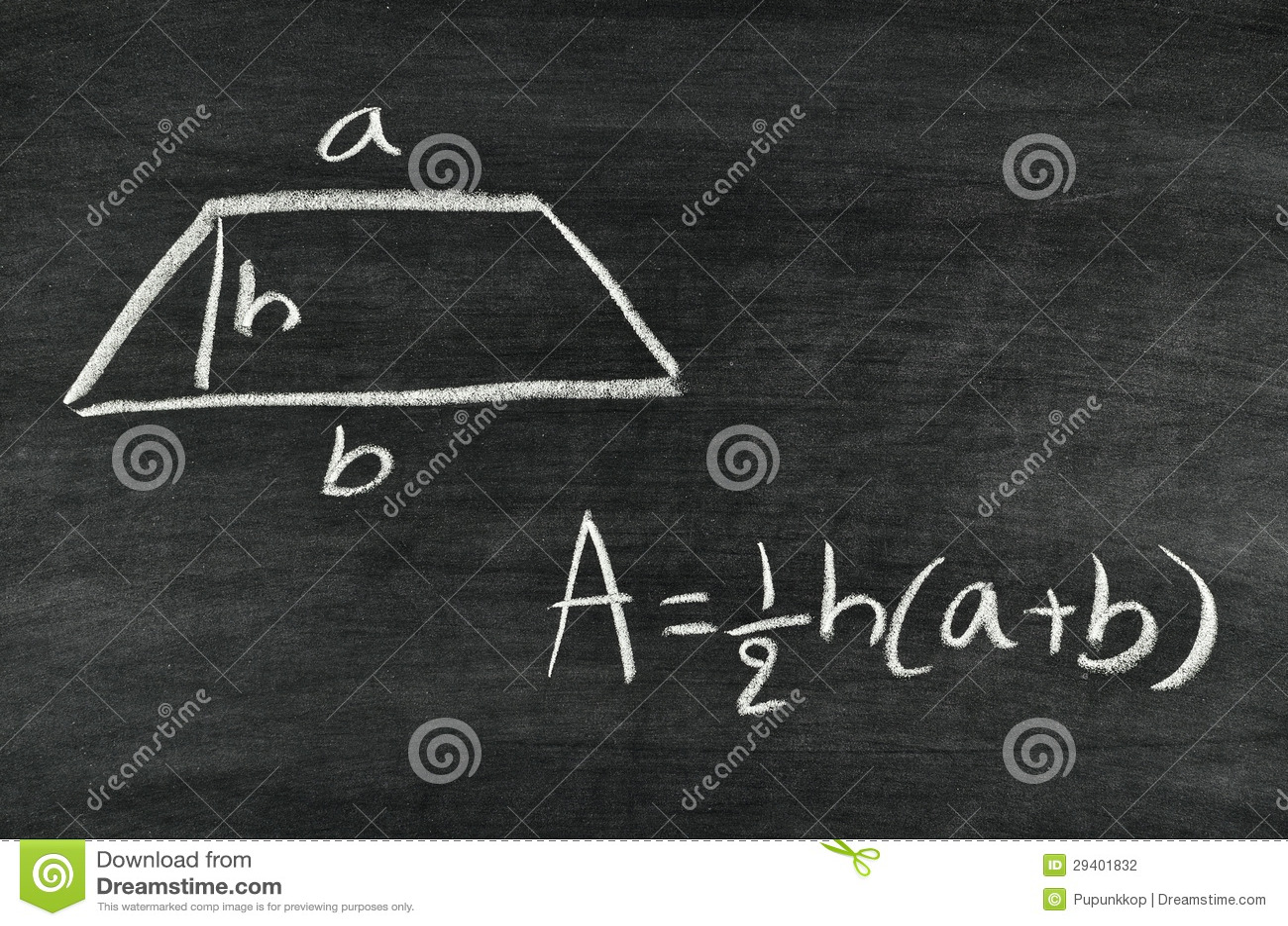 Trapezoid area formula