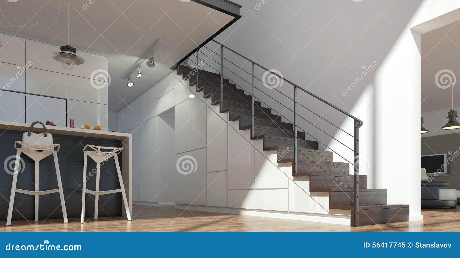 Trappa från trä och metall arkivfoto   bild: 56417745