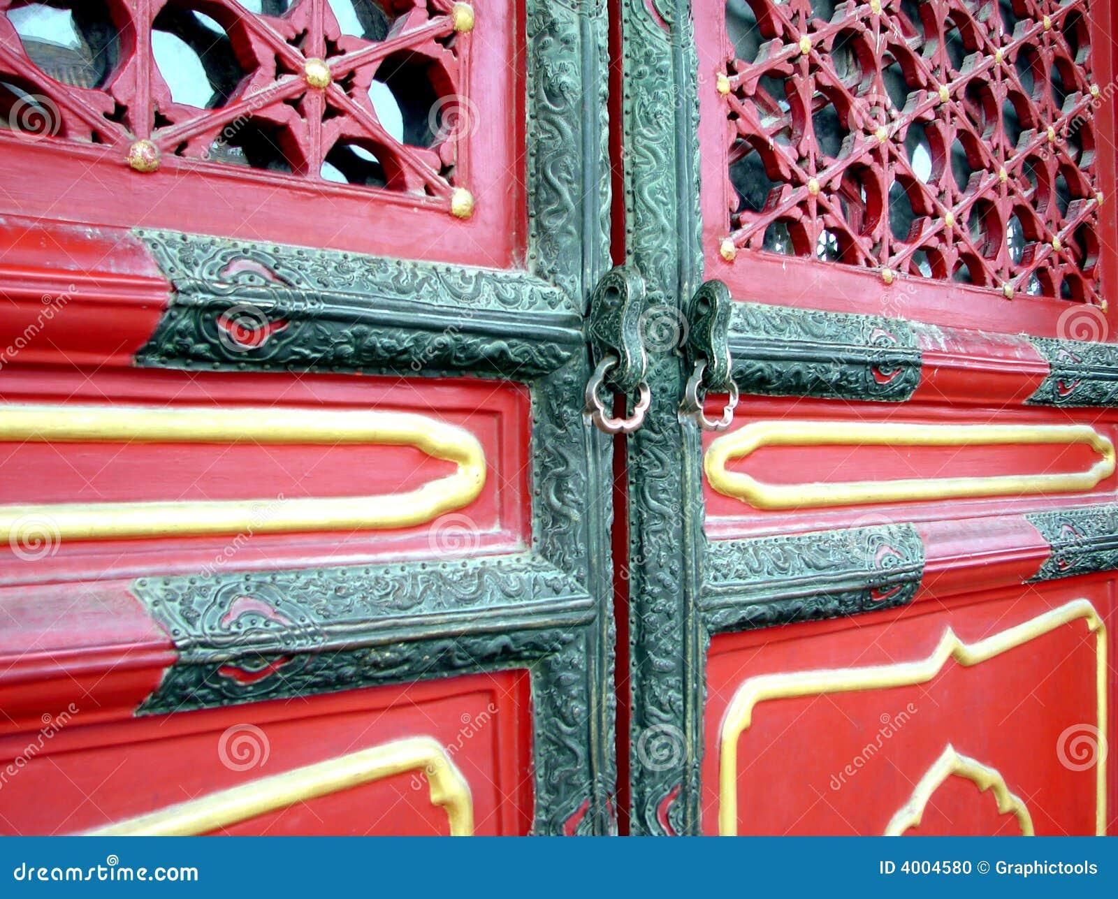 Trappe chinoise dans Pekin - porcelaine