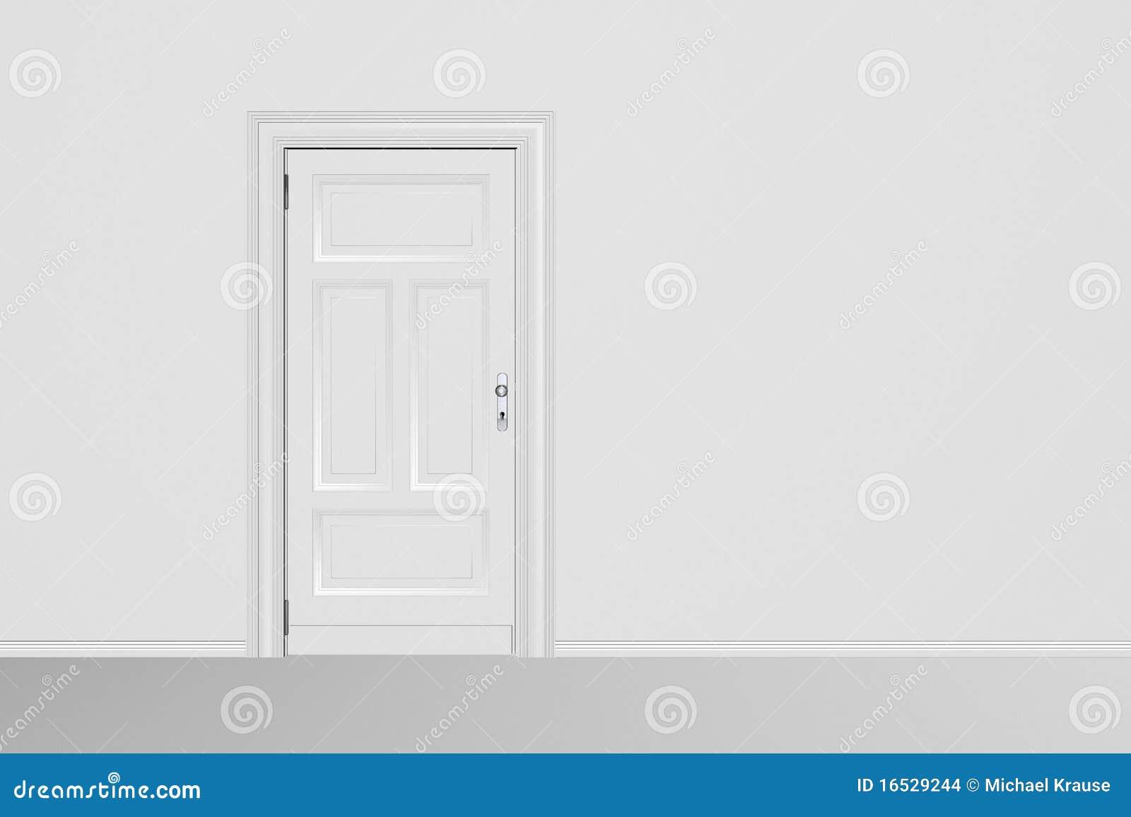 Trappe fermée