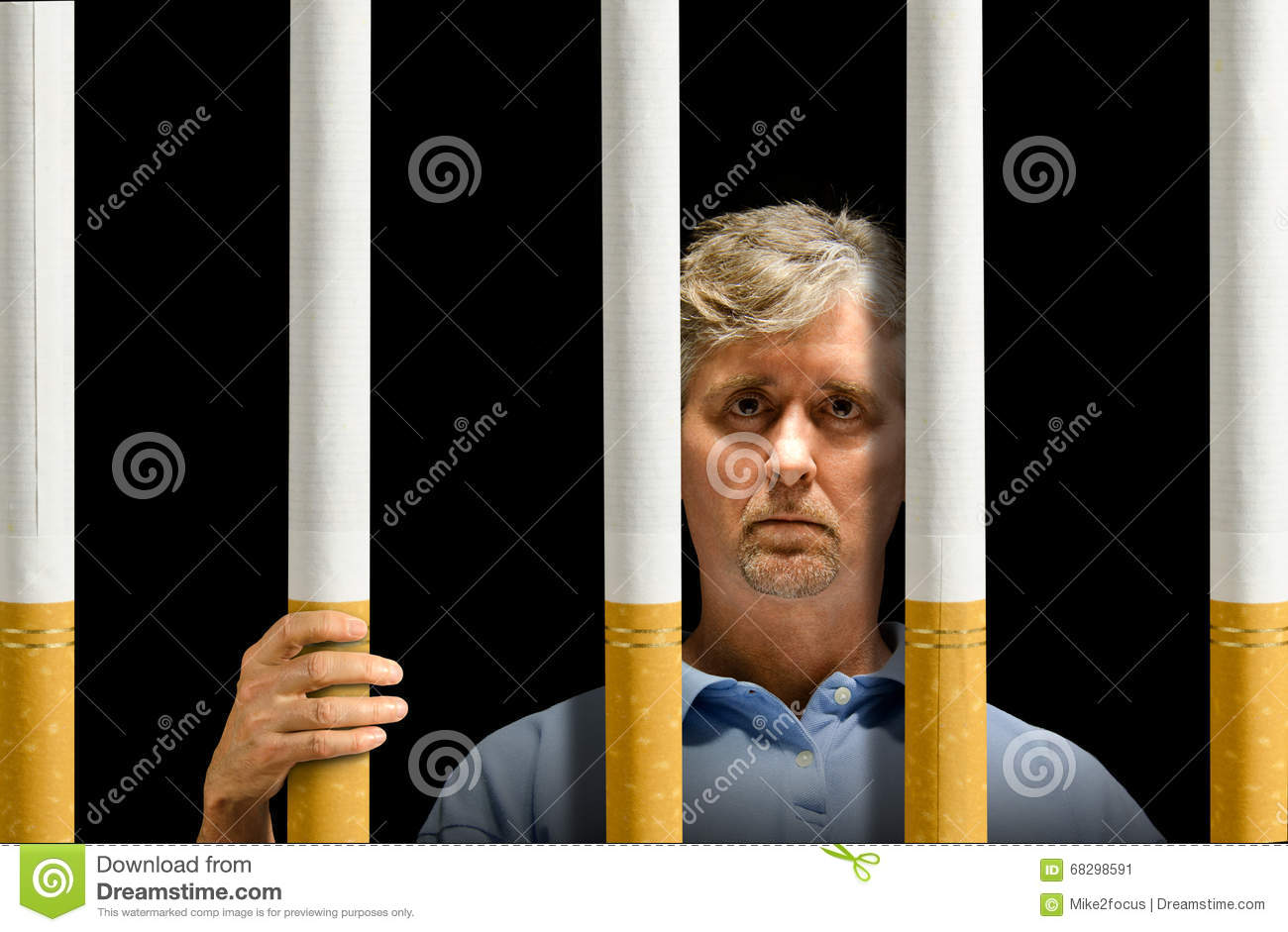 Trapped by cigarettes nicotine addiction prison