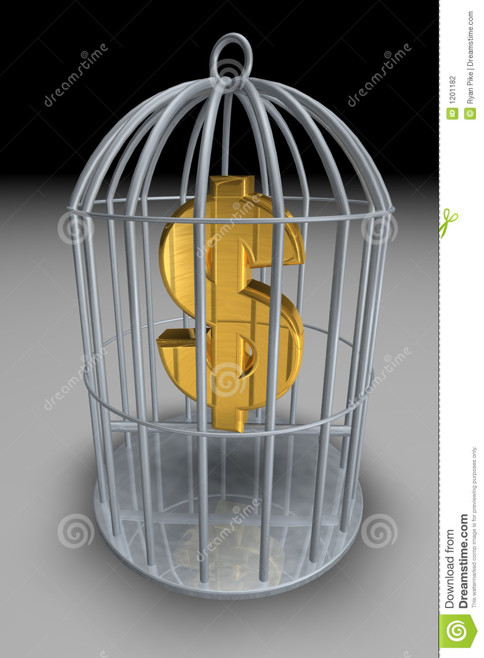 Money Cage >> Trapped Money Stock Illustration Illustration Of Payment 1201182