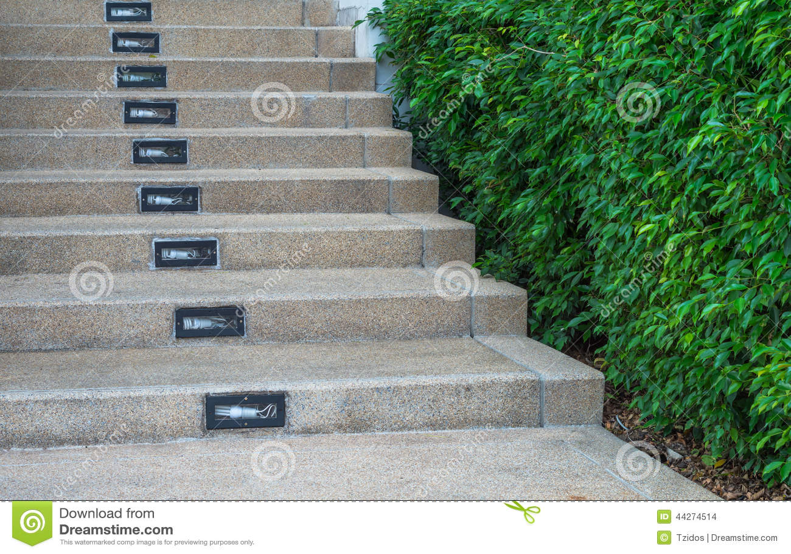 Trappen met de tuin stock foto afbeelding bestaande uit for Huis trappen prijzen