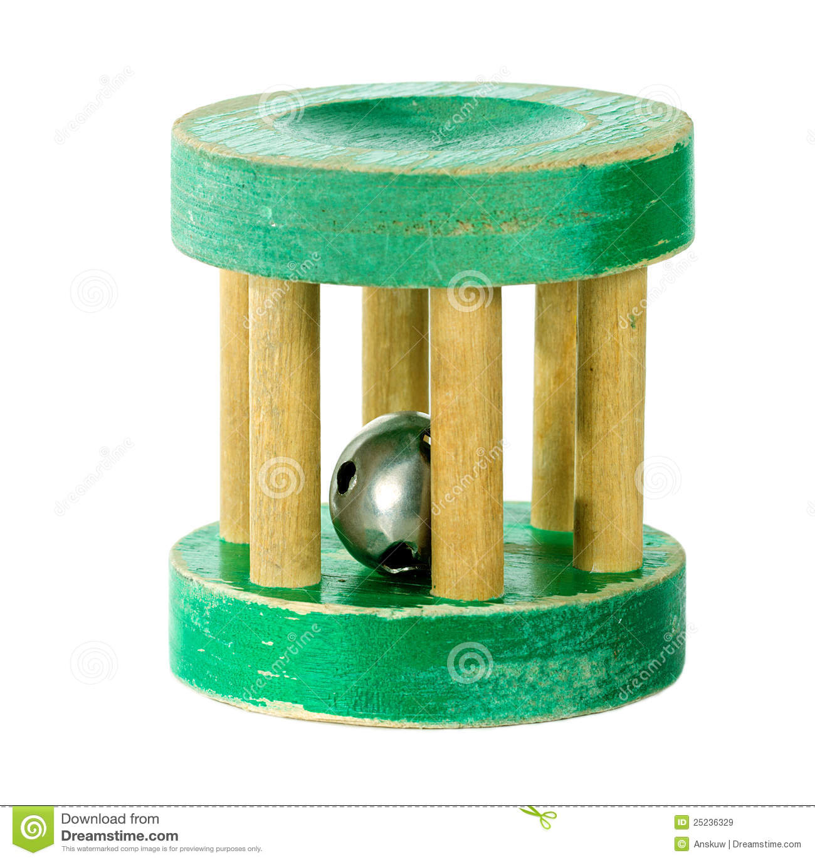 Traqueteo de madera antiguo