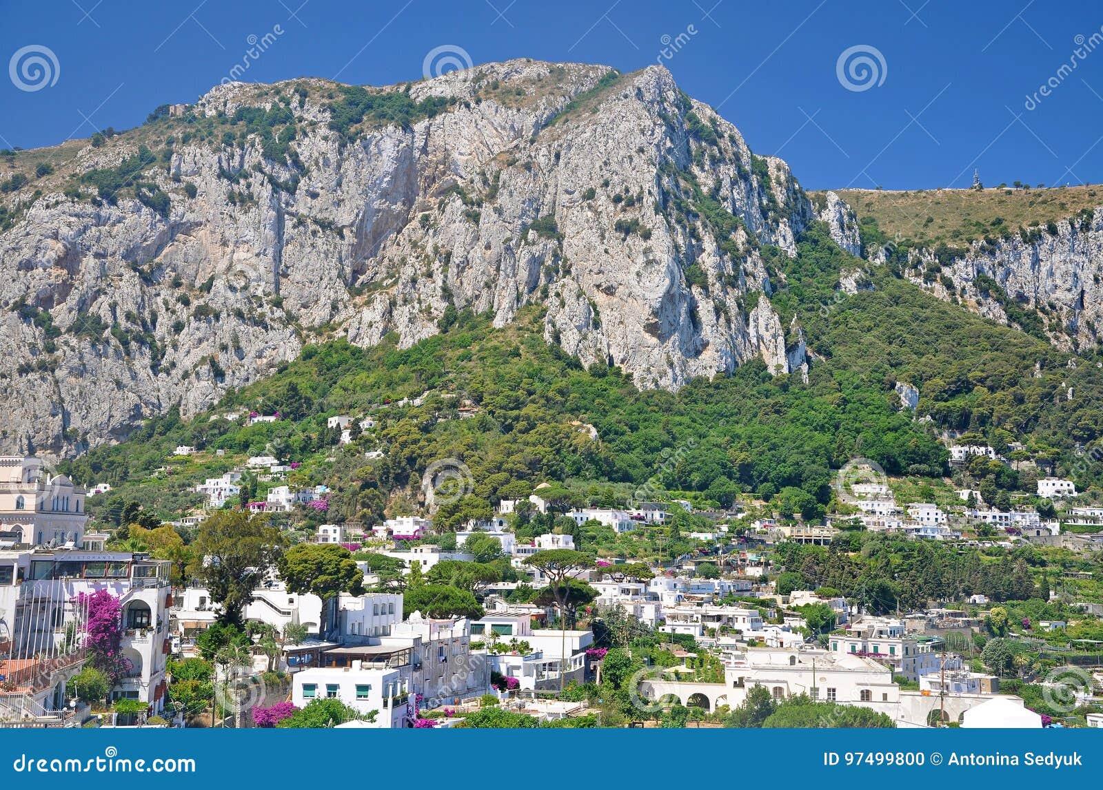 Trascuratezza della città di Capri sull isola italiana di Capri