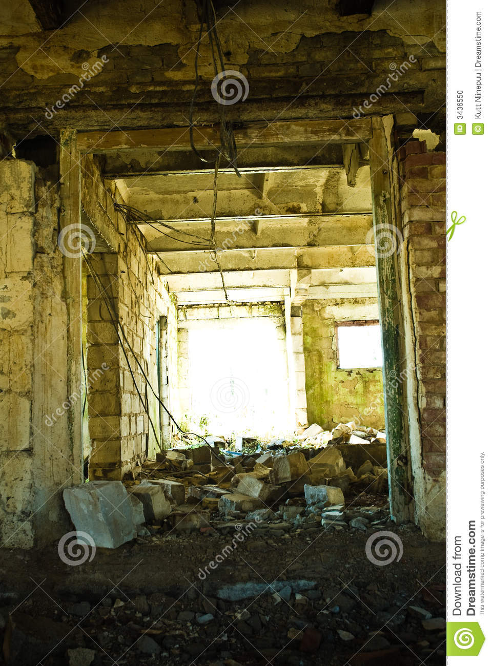 Download Trash In Abandoned Cow Barn Stock Photo - Image of indoors, decaying: 3436550