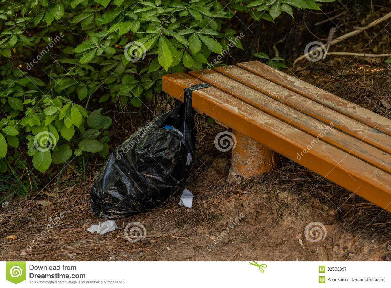 Black dude tied to bench