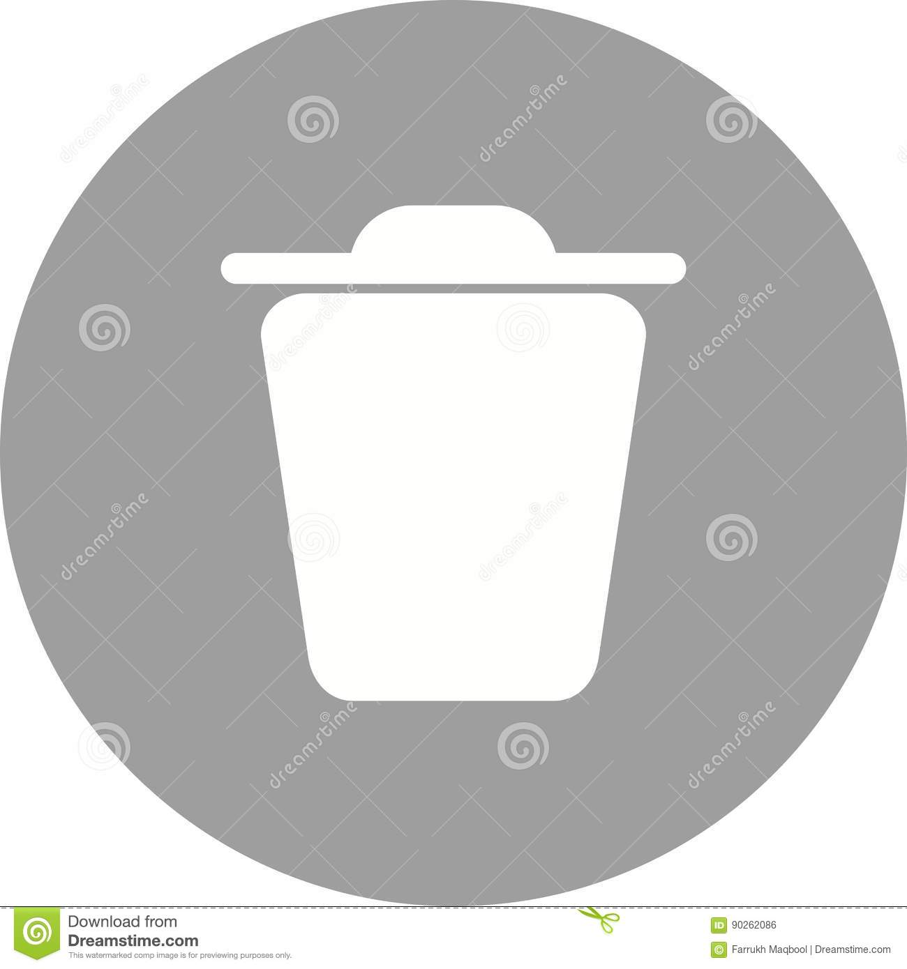 Trash stock vector  Illustration of close, exit, icon - 90262086