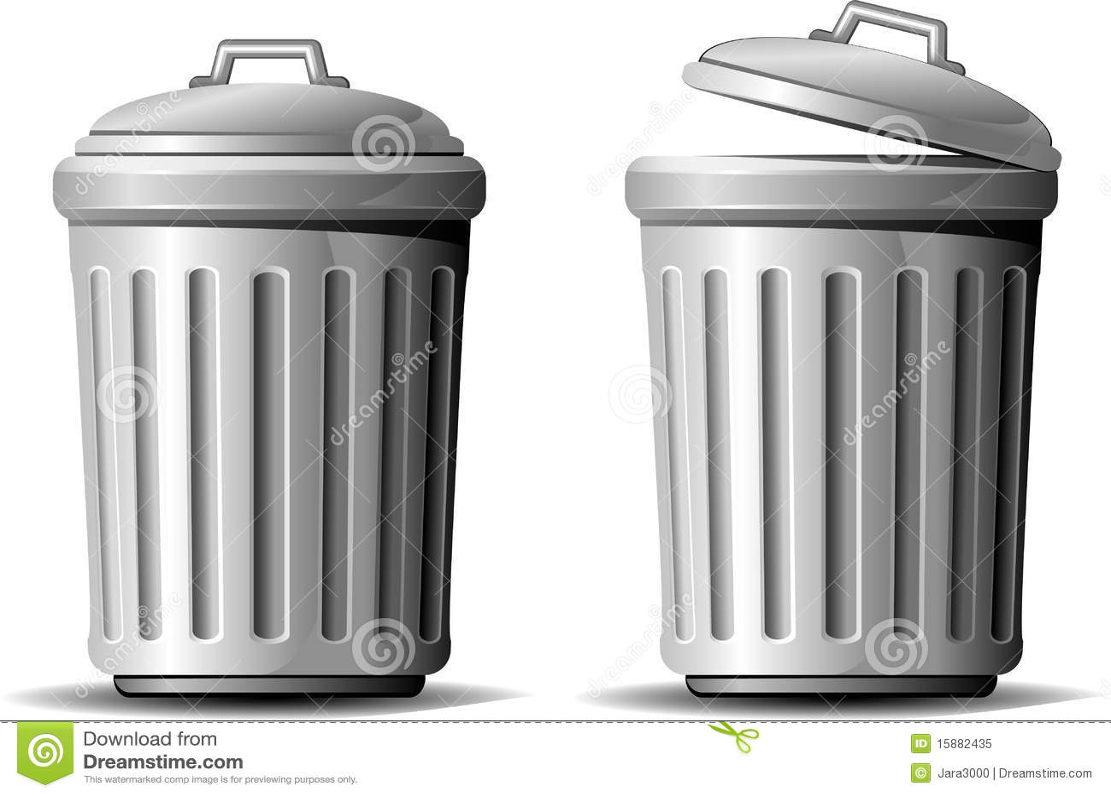 Trash can stock vector. Illustration of bucket 5982b2396511