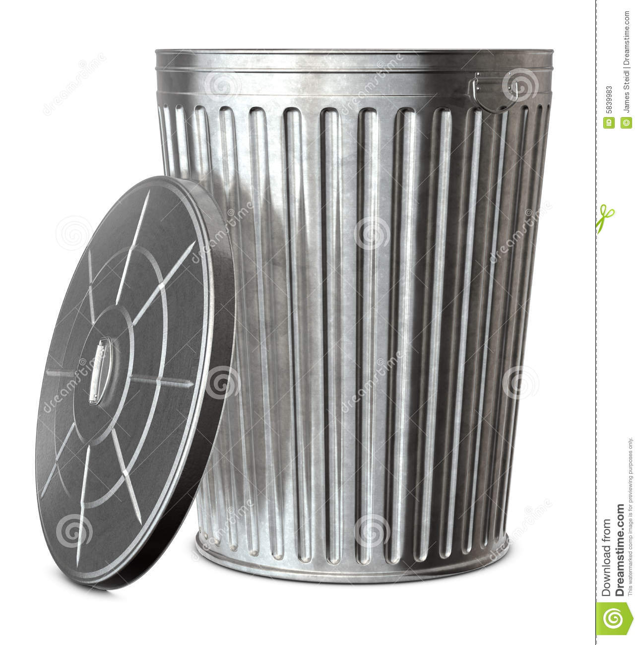 Trash Can Stock Image Image Of Silver Ship Recycling