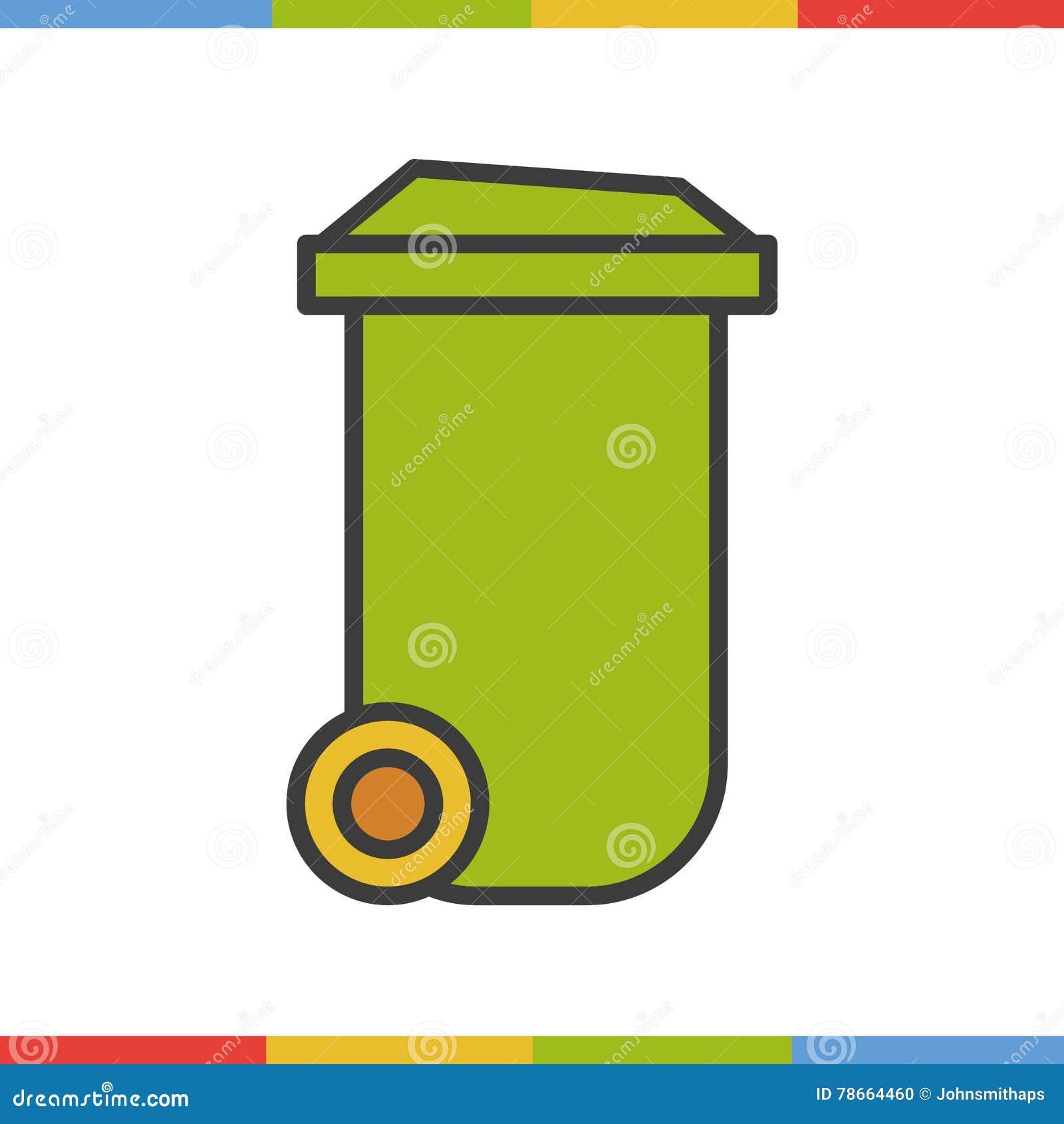 Trash can color icon.