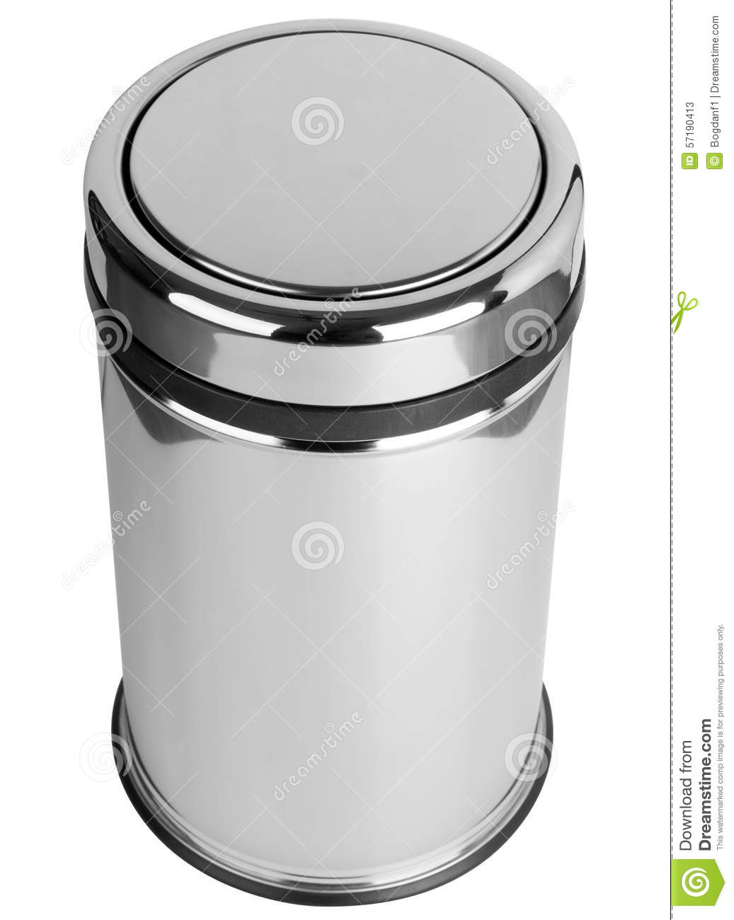 Background Can Easy Isolated Lid Mechanism Polished Stainless Steel Swing  Top Trash
